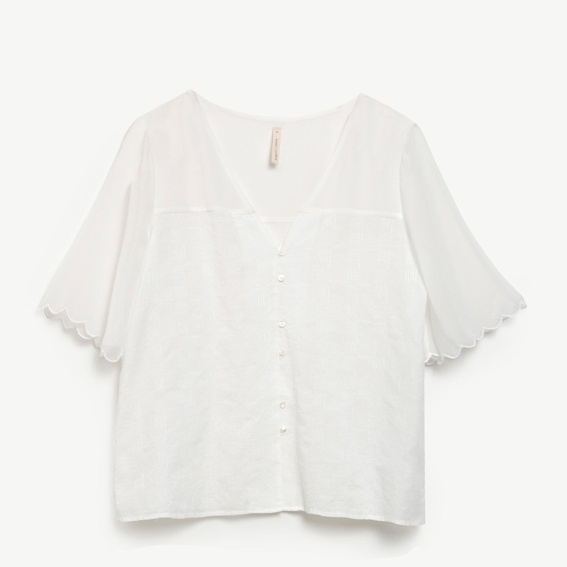 Şifon Detaylı Bluz