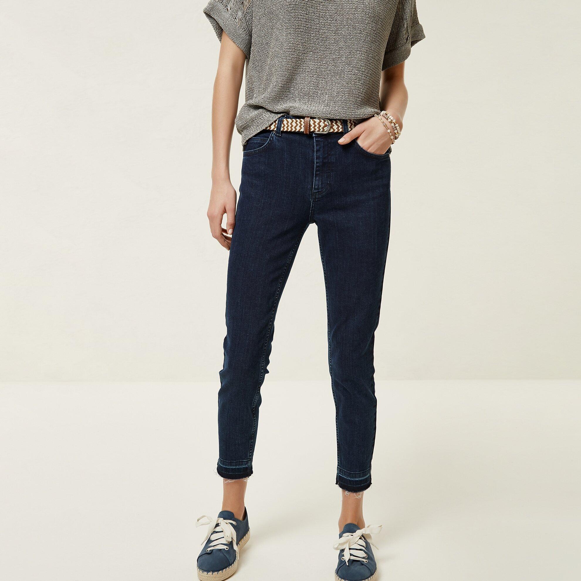 Pis Kenar Detaylı Denim Pantolon