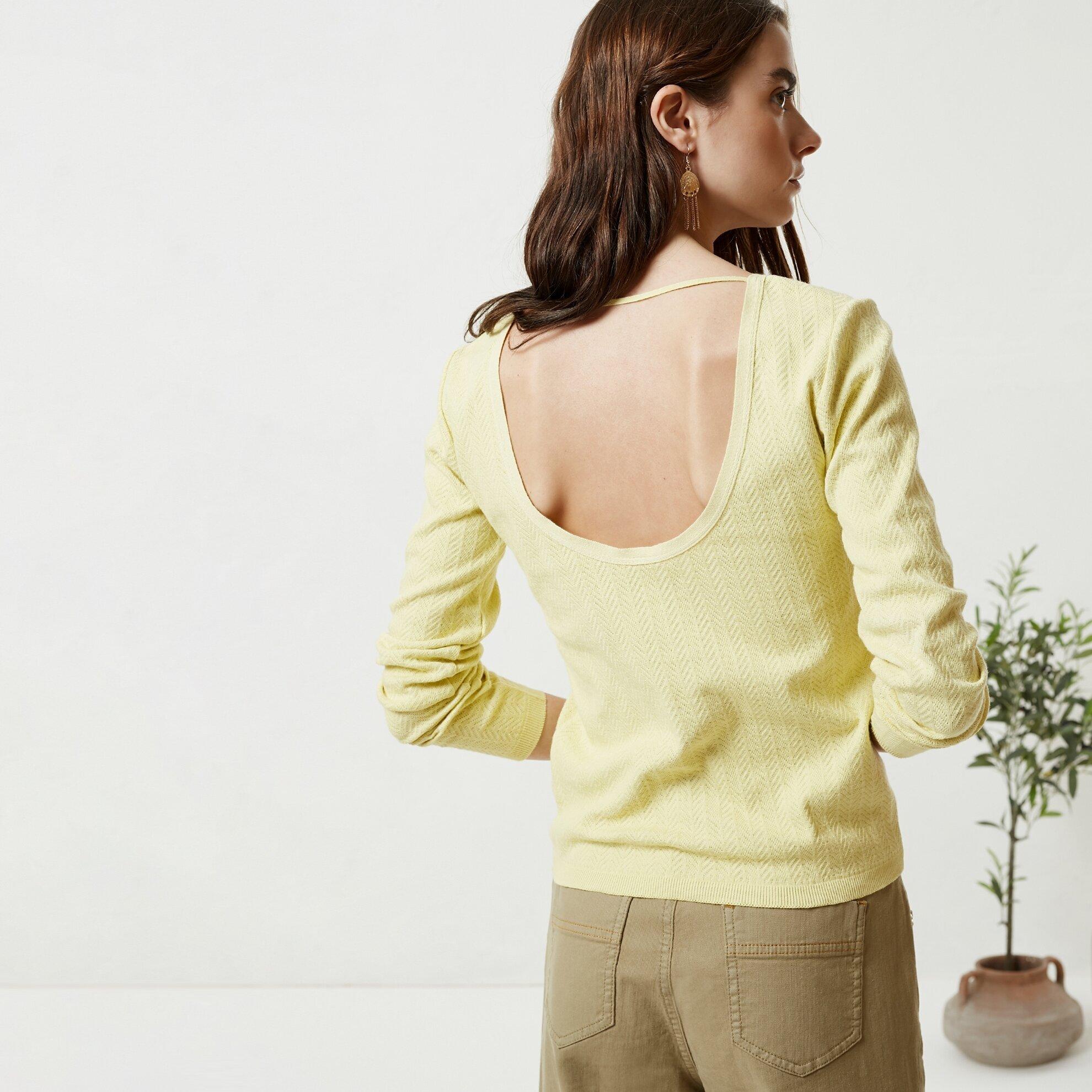 Strickware Mit Rückendetail