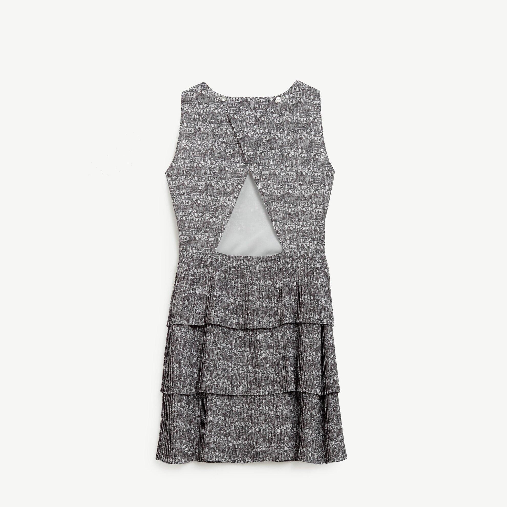 Plise Detaylı Elbise