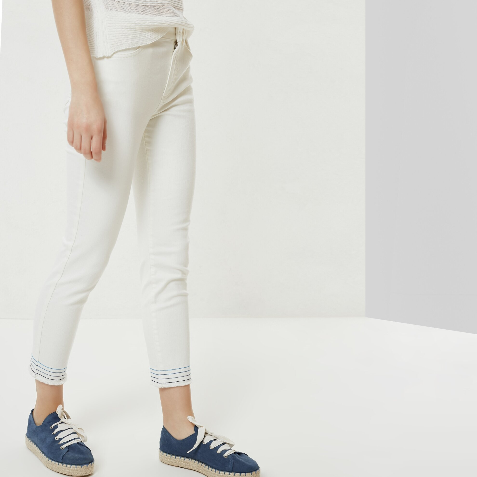Dikiş Detaylı Denim Pantolon