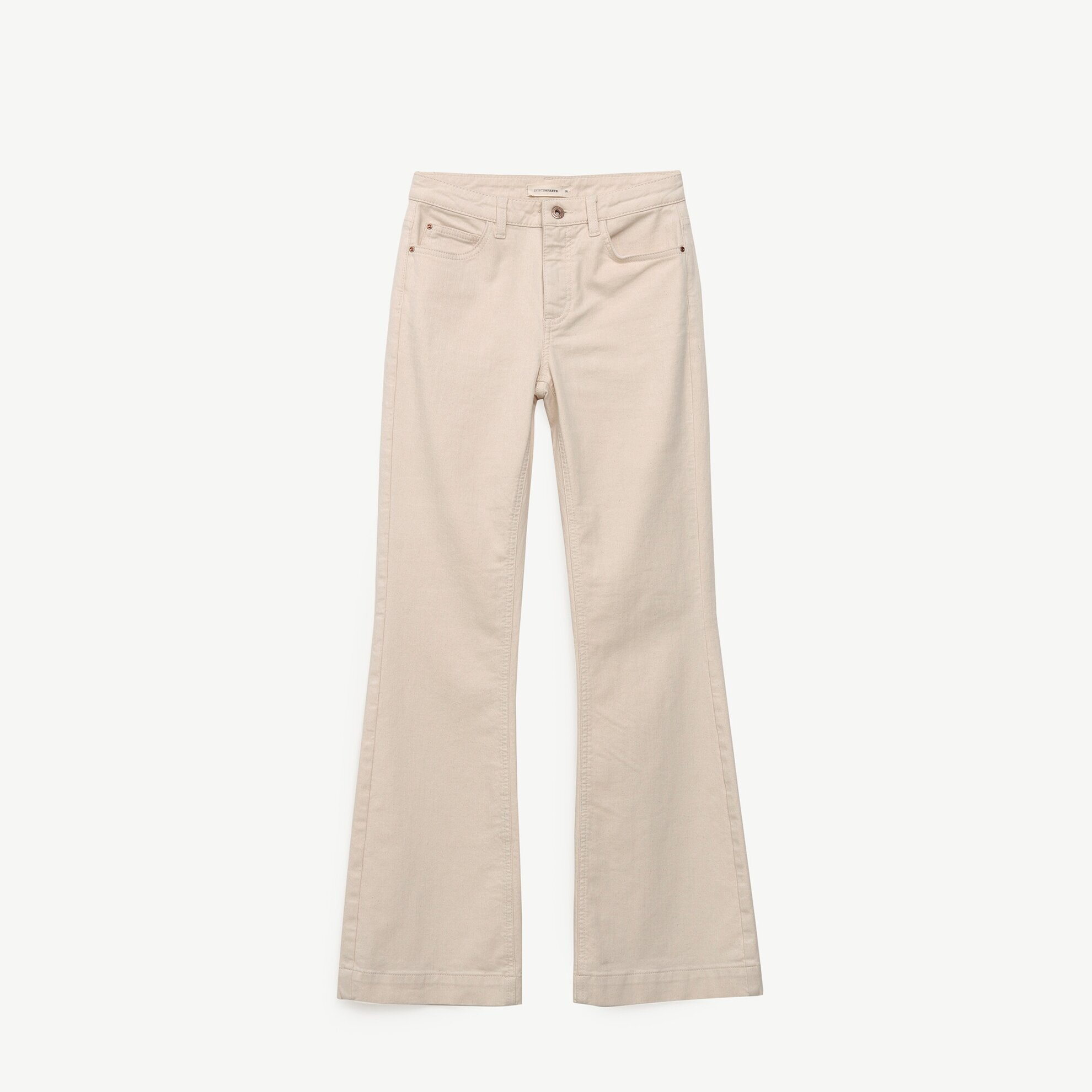 Fit&flare Denim Trousers