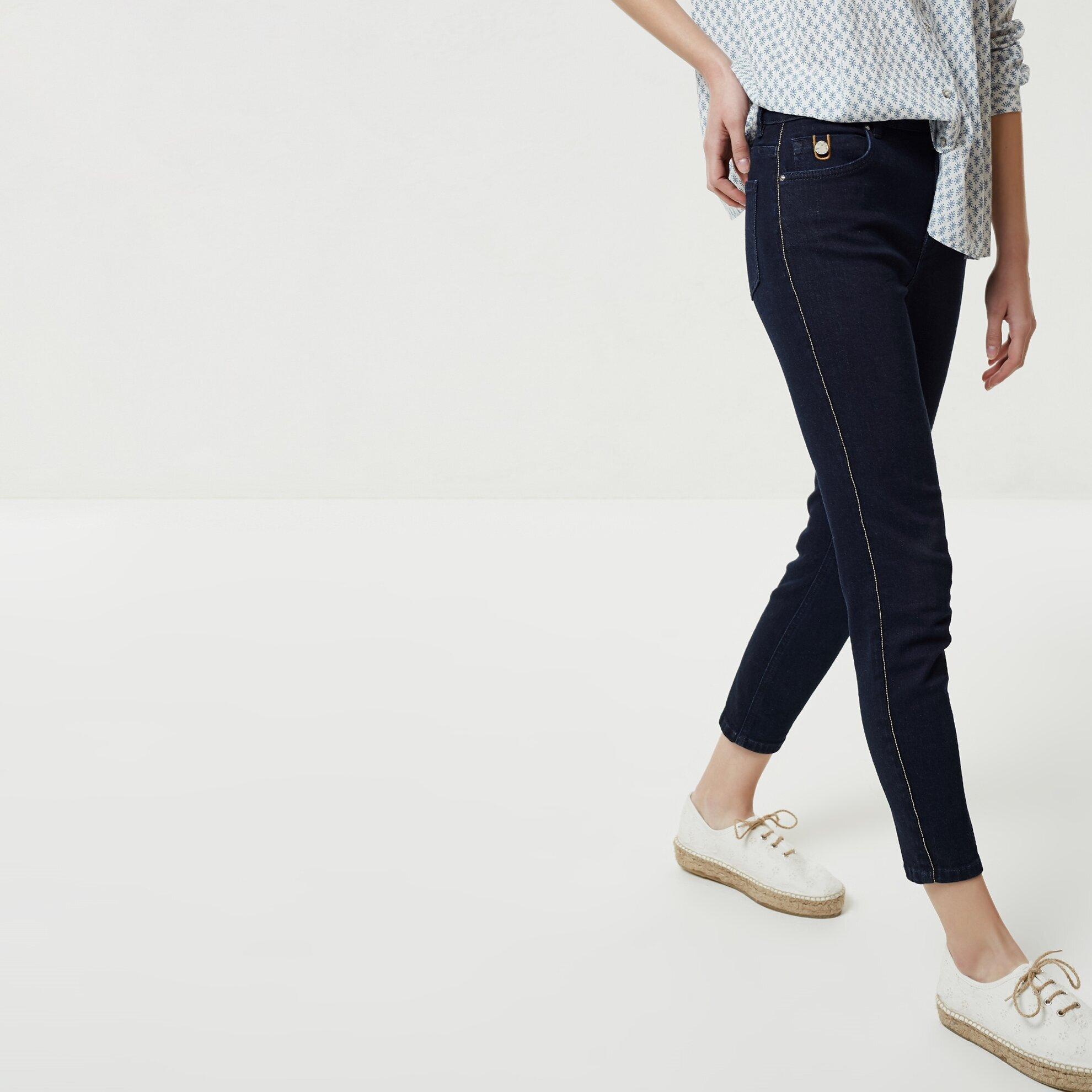 Biye Detaylı Denim Pantolon