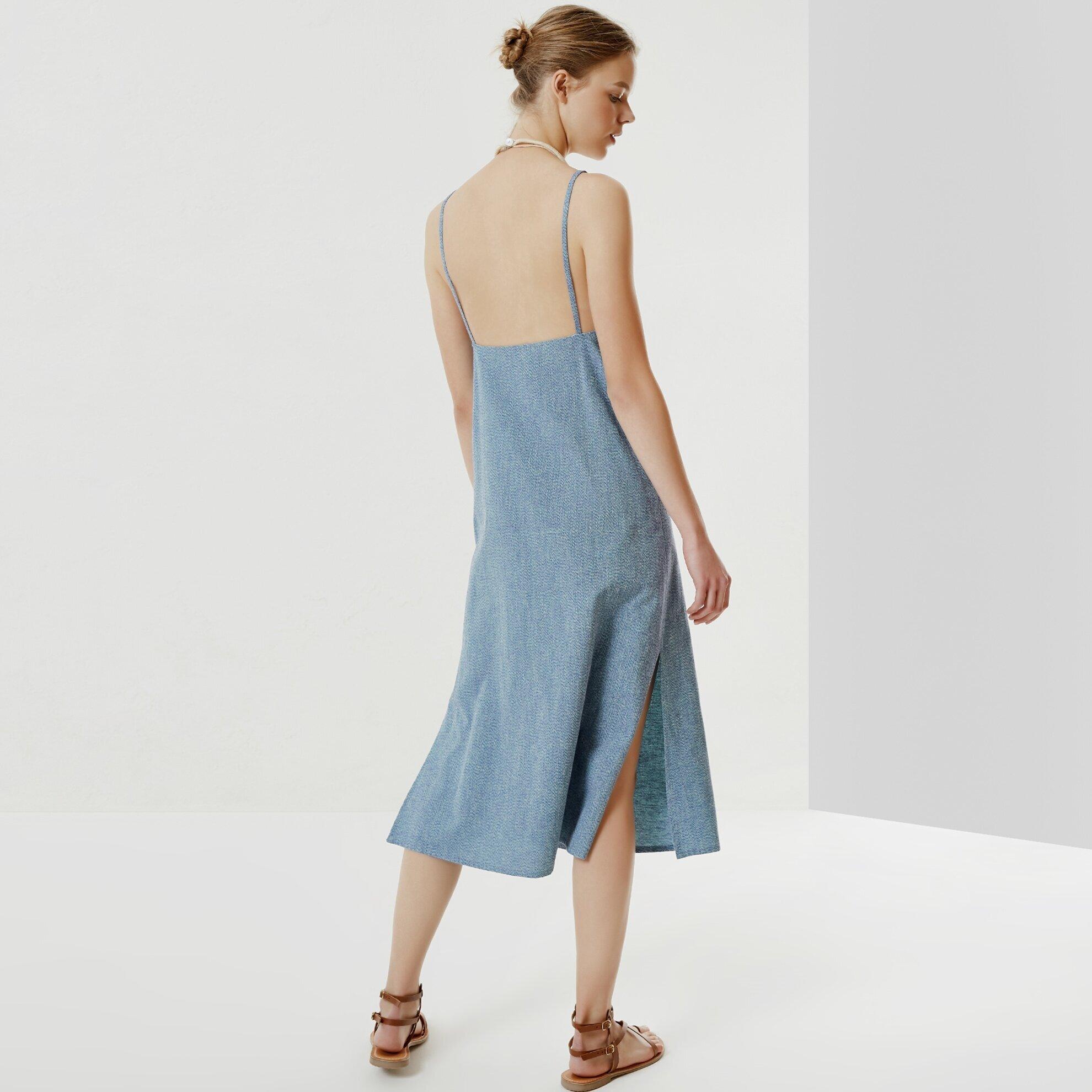 Boncuk Detaylı Elbise