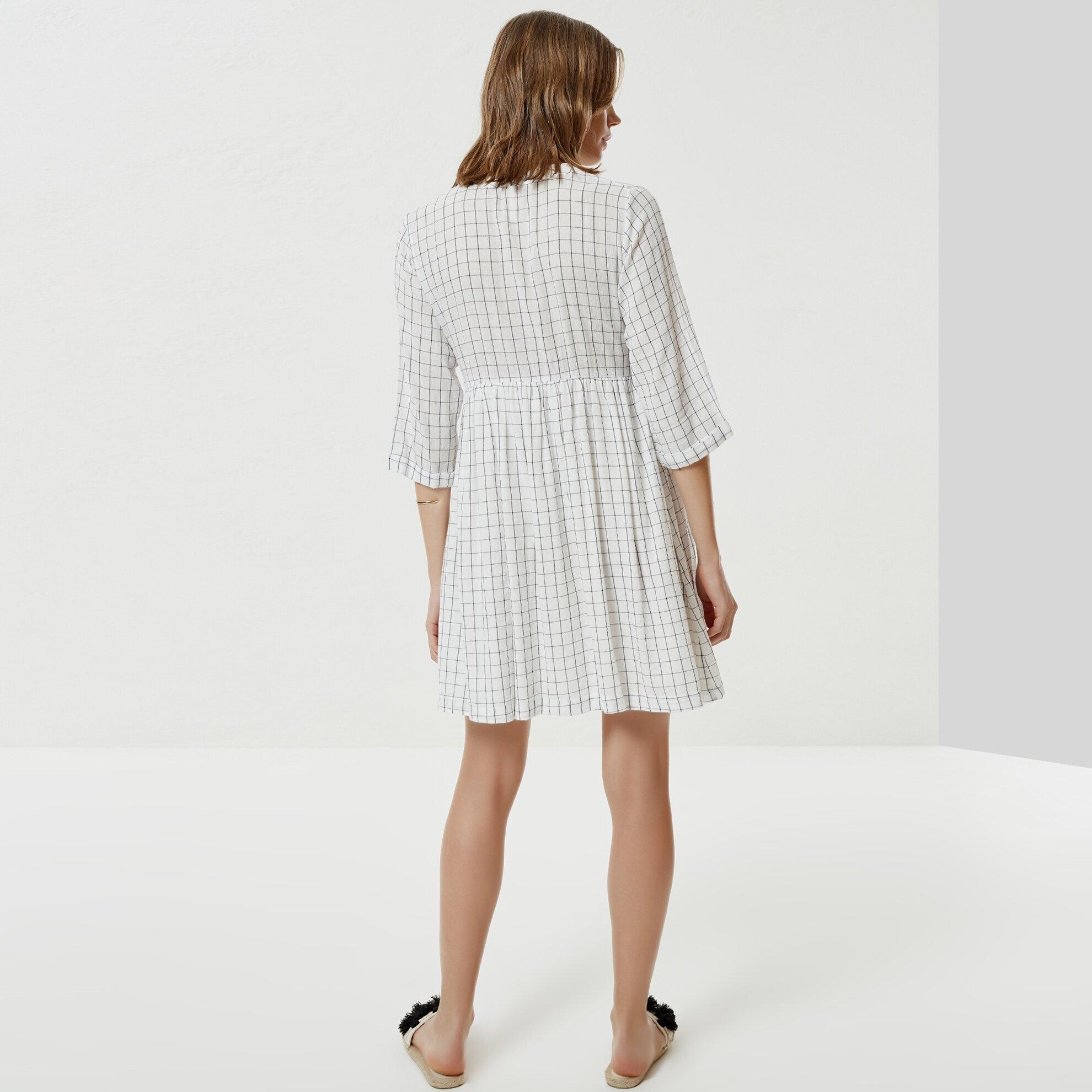 Bağlama Detaylı Kruvaze Elbise