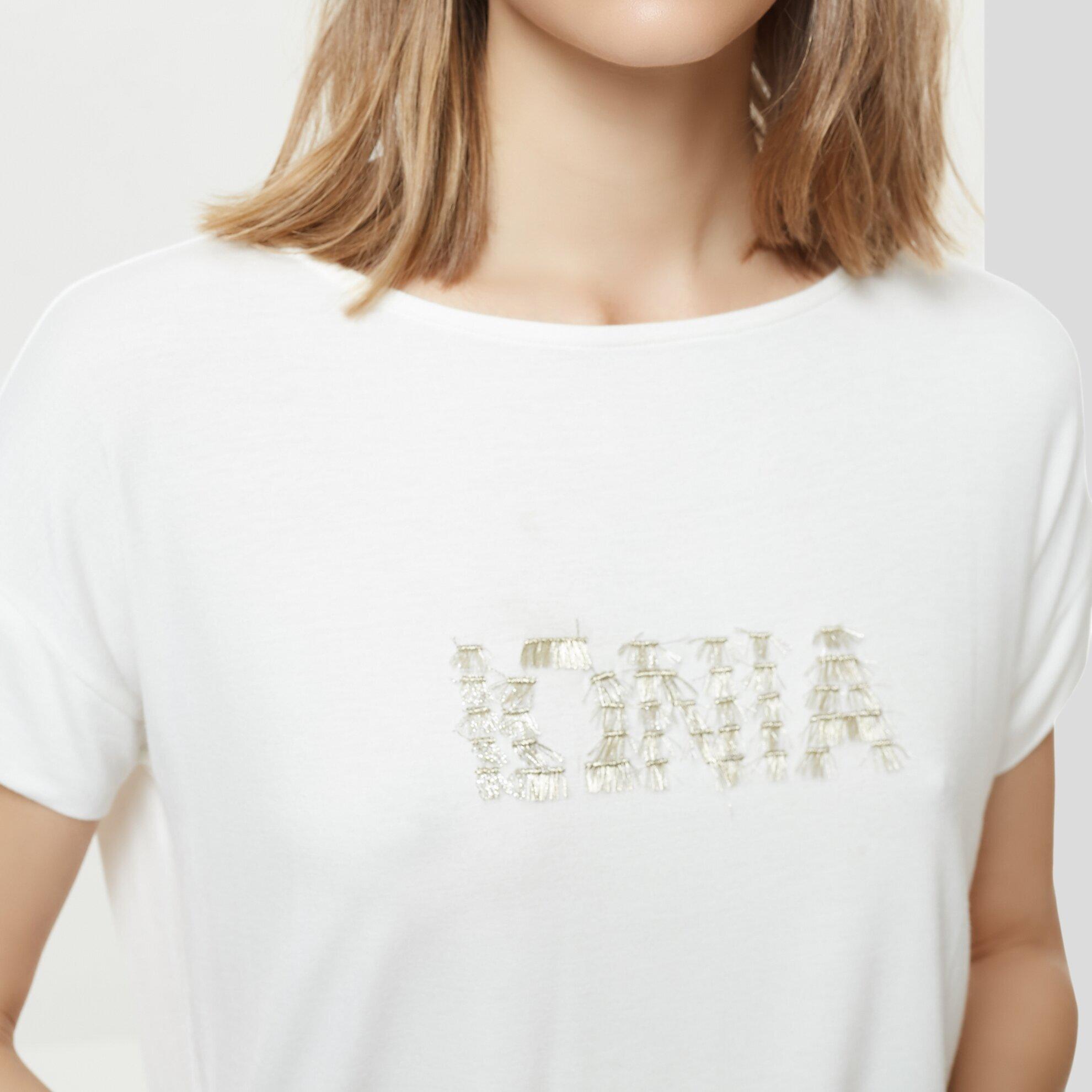 T-Shirt Mit Verzierung