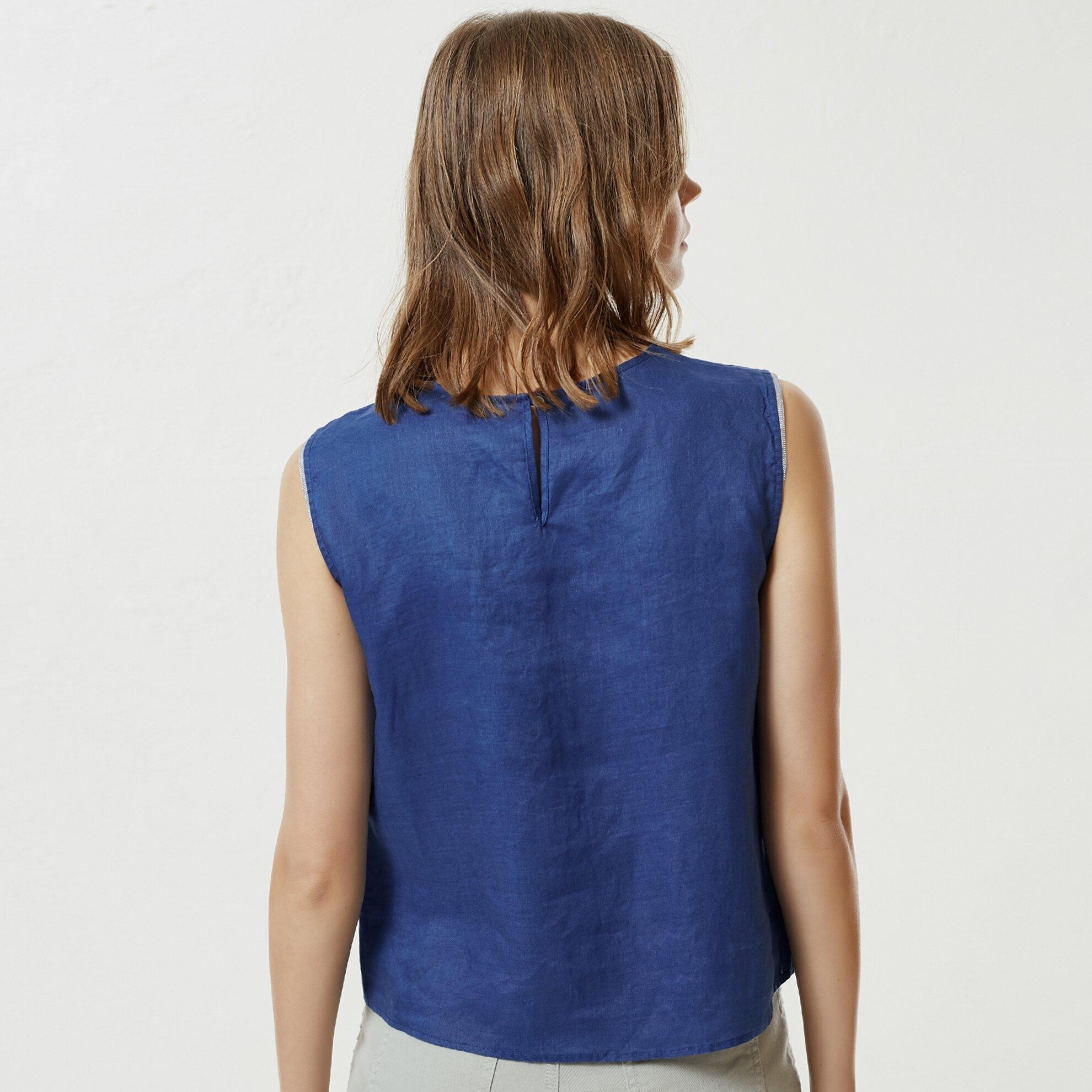 Kırma Detaylı Bluz