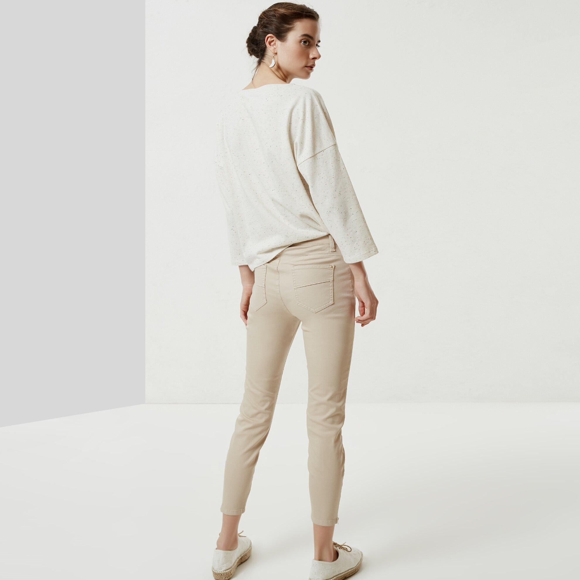 Fermuar Detaylı Denim Pantolon