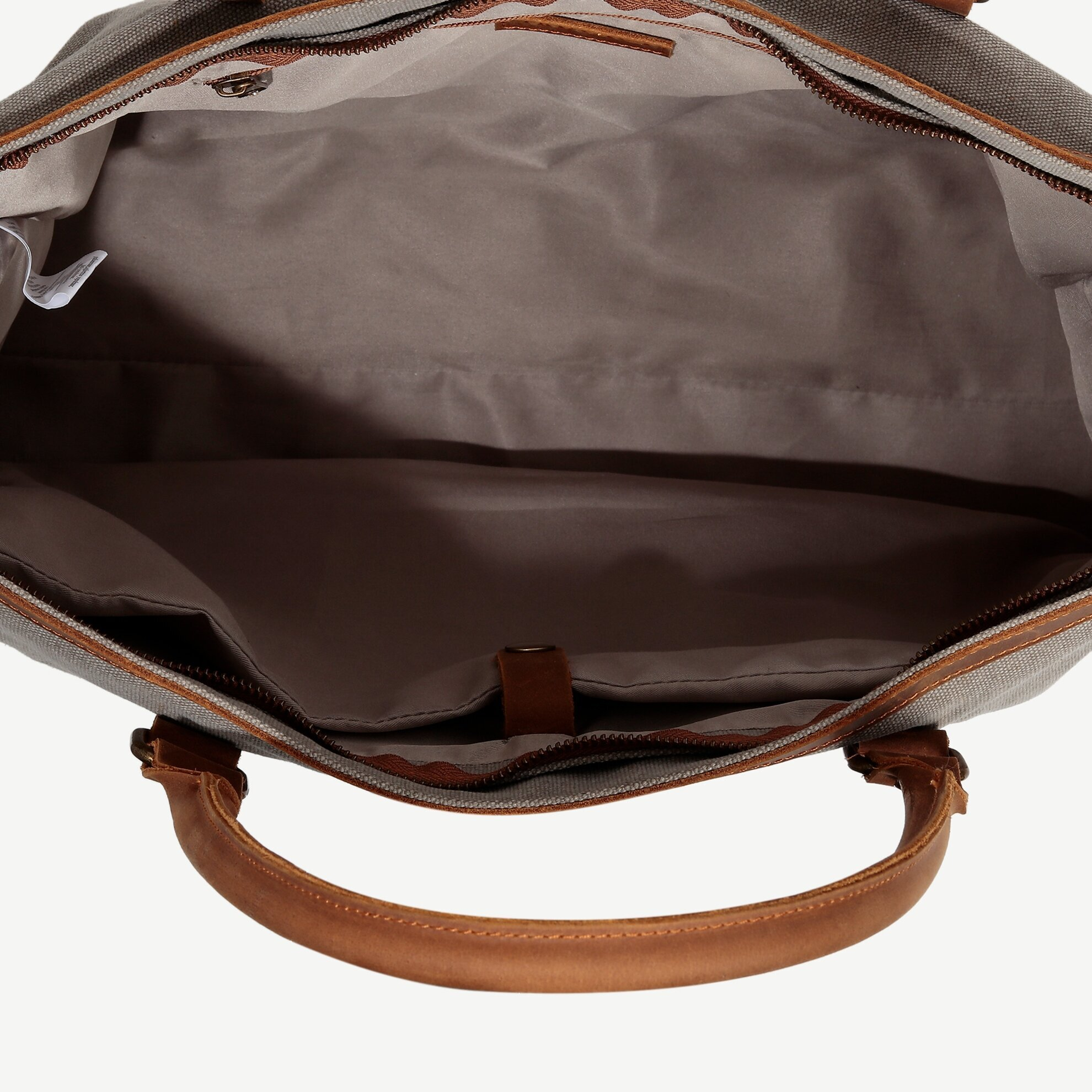 Canvas Weekender With Leather Details