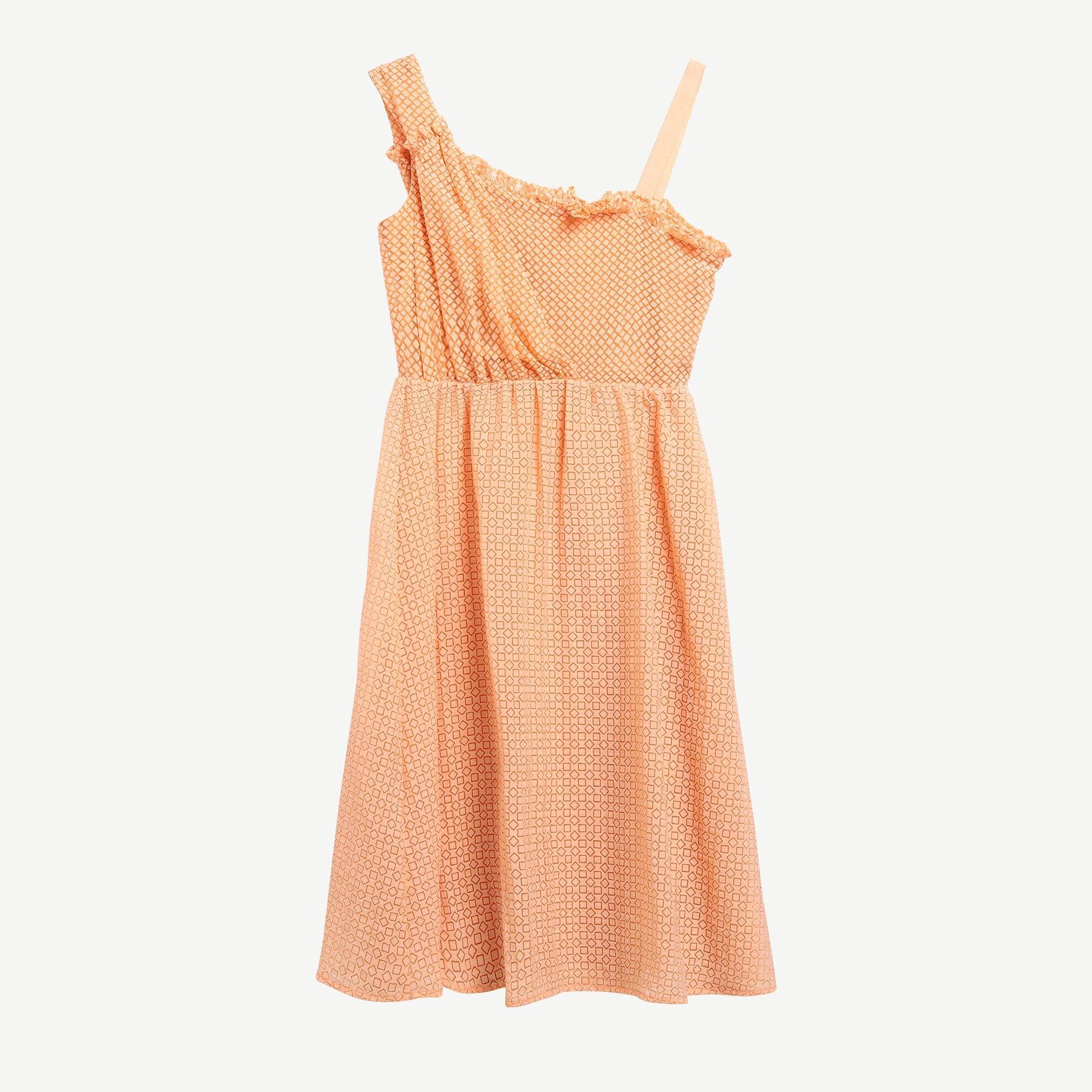 Asimetrik Yakalı Dizaltı Elbise