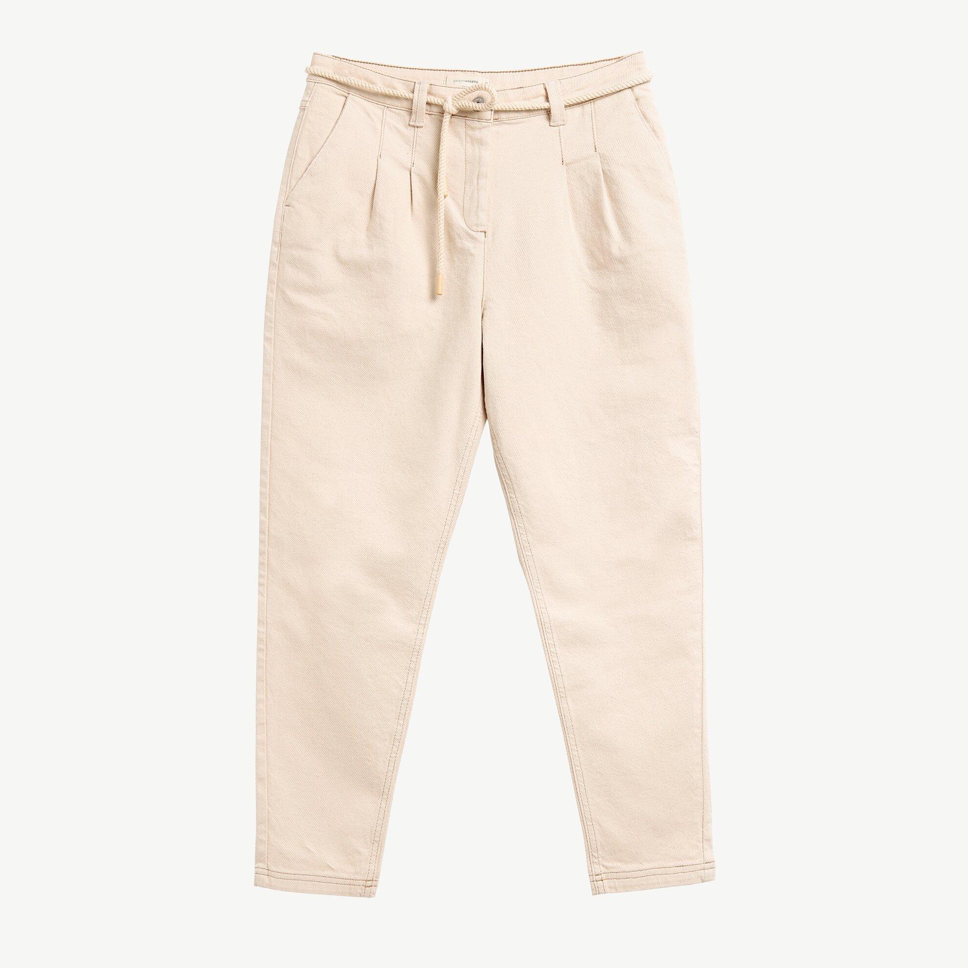 Belt Detailed Carrot Trousers