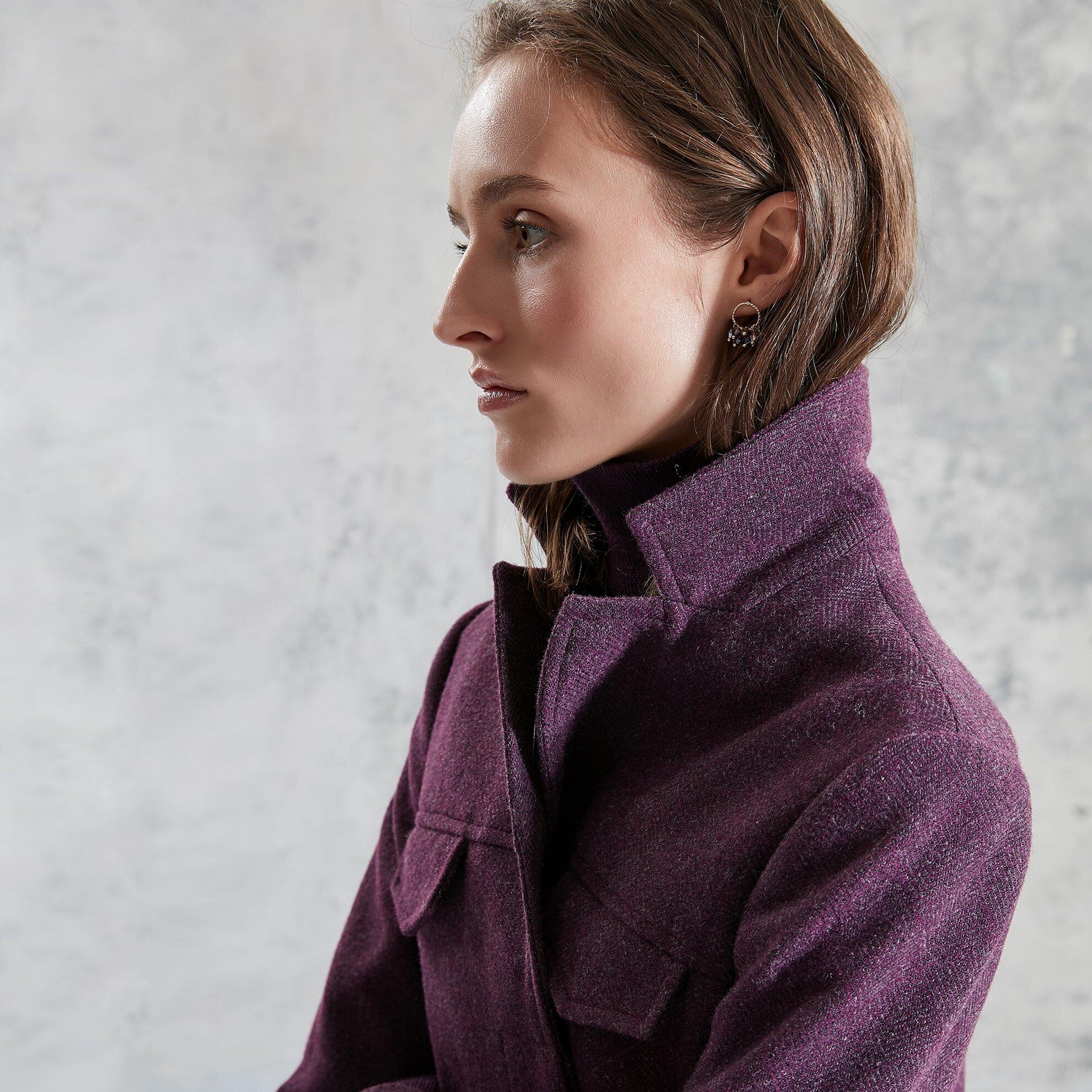 Yaka Detaylı Ceket
