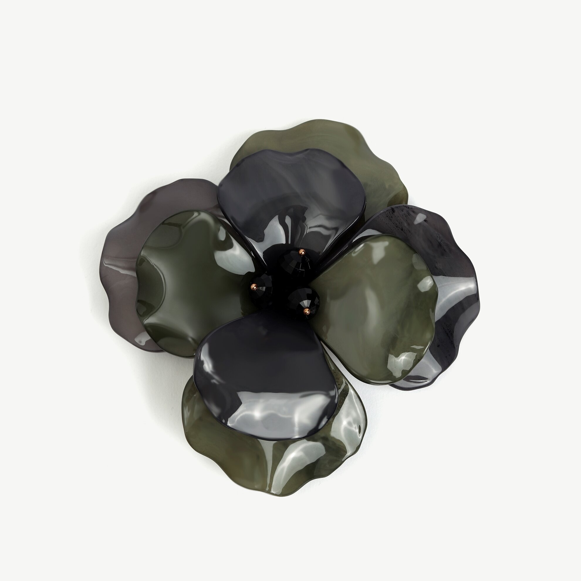 Çiçek Form Akrilik Broş