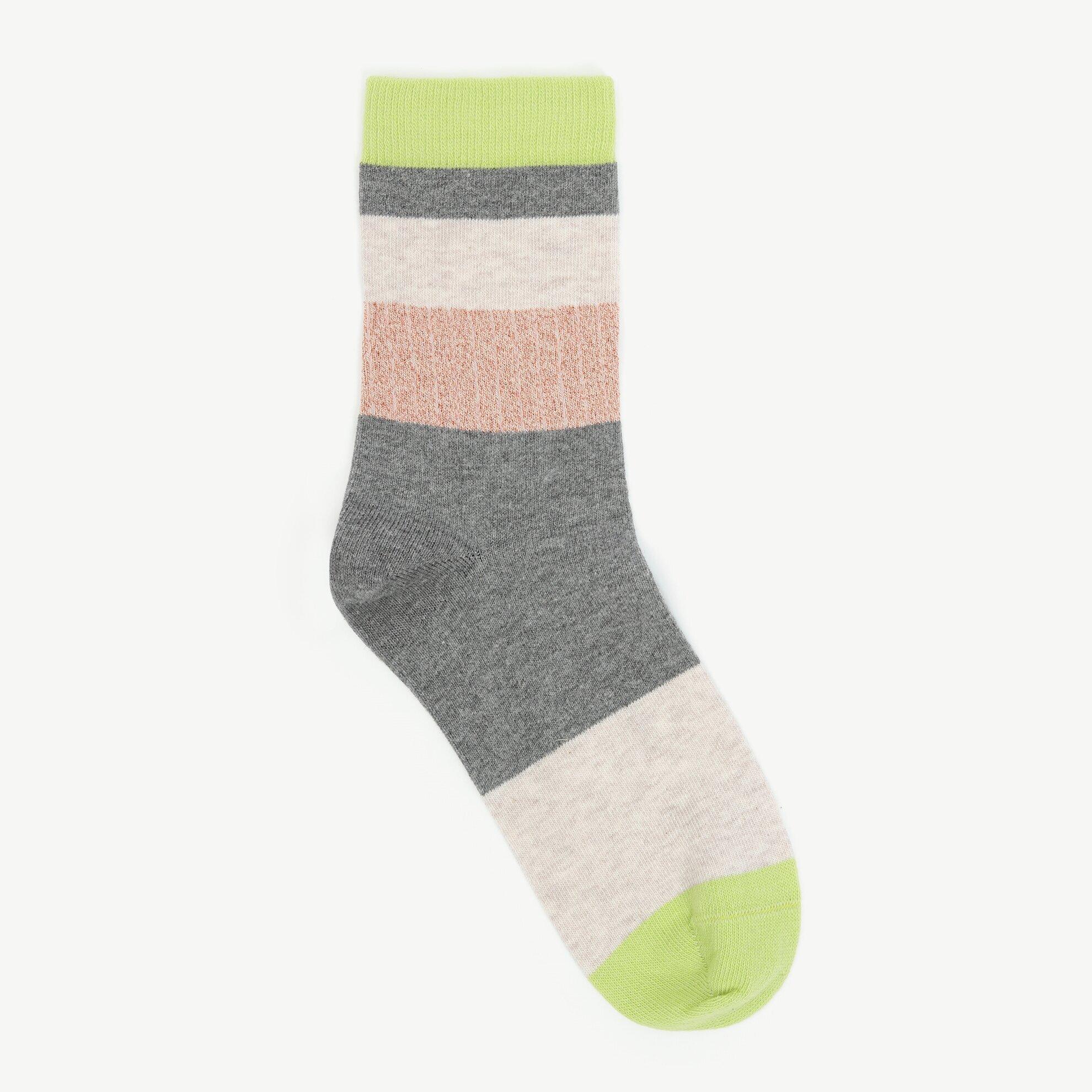 Sim Detaylı Renk Bloklu Çorap