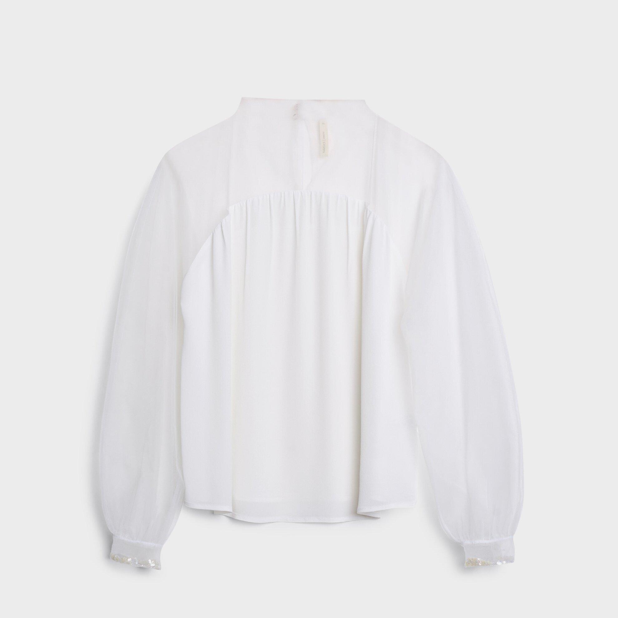 Dik Yakalı Bluz