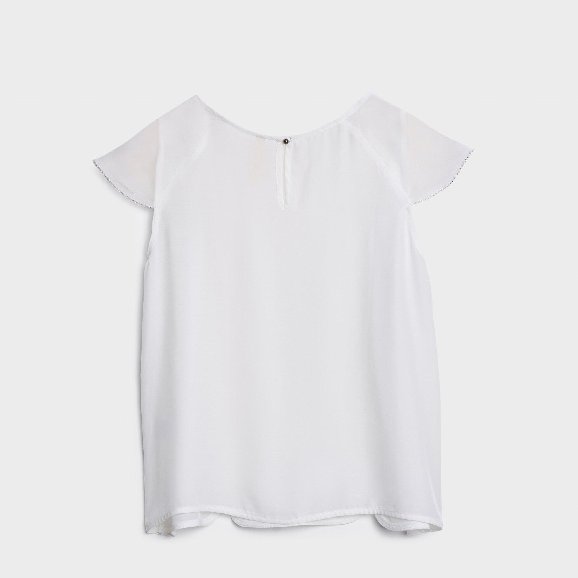 Yakası Dekorlu Bluz