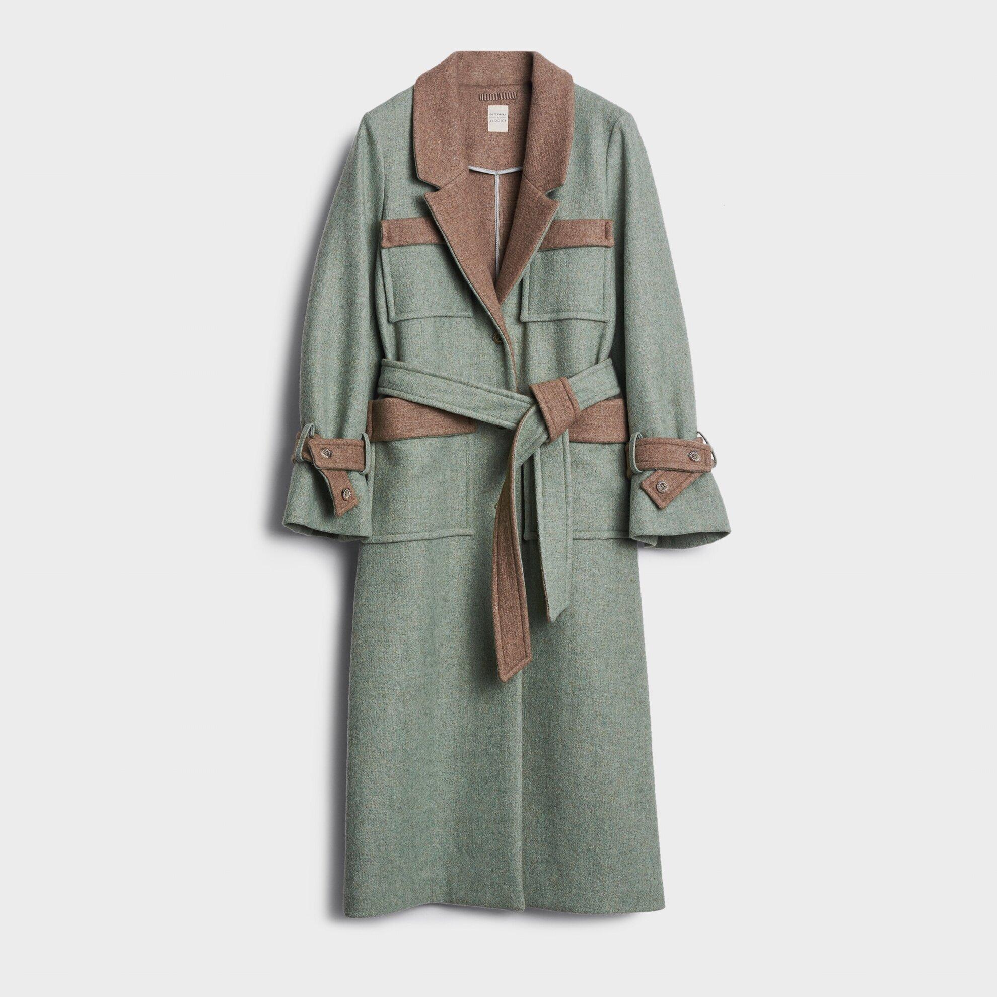 Cep Detaylı Uzun Palto