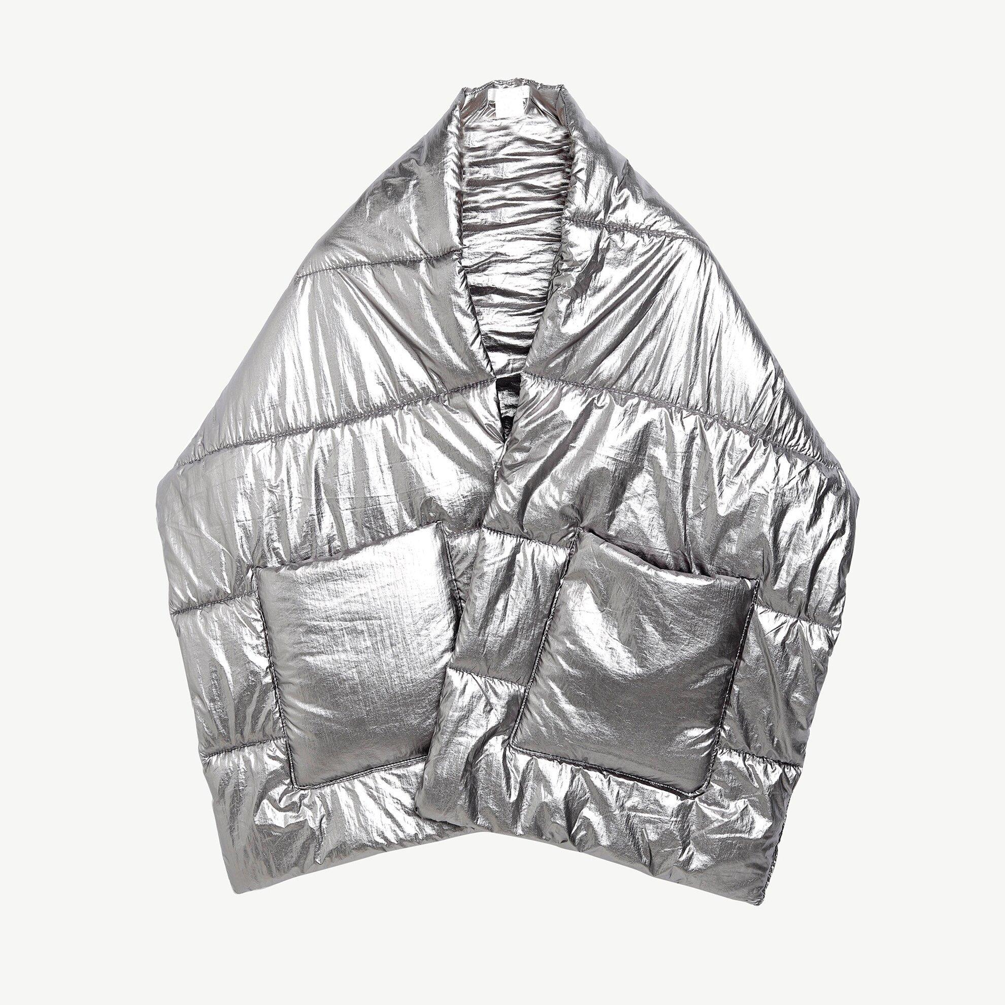 Metalik Görünümlü Cep Detaylı Panço