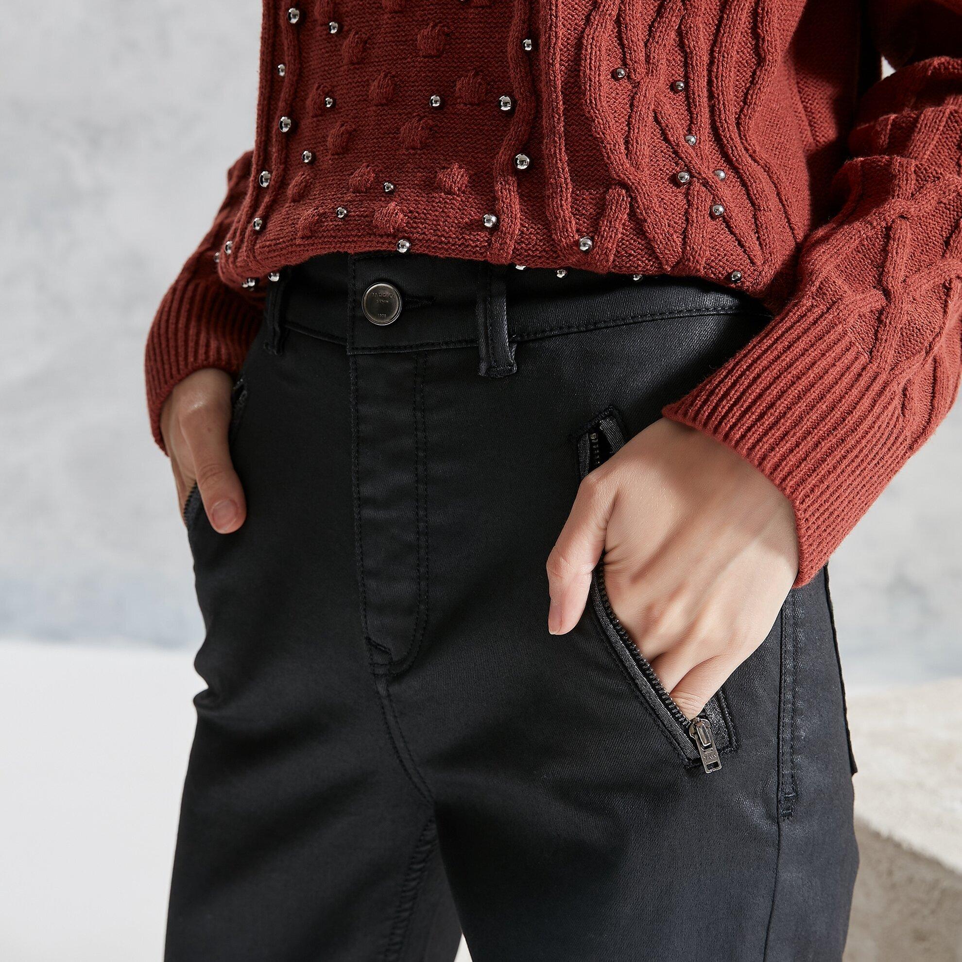 Simli Detaylı Pantolon