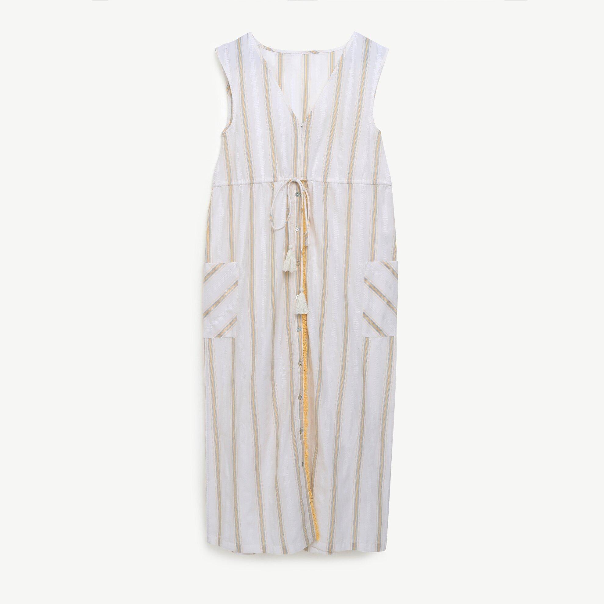 V Yaka Uzun Elbise