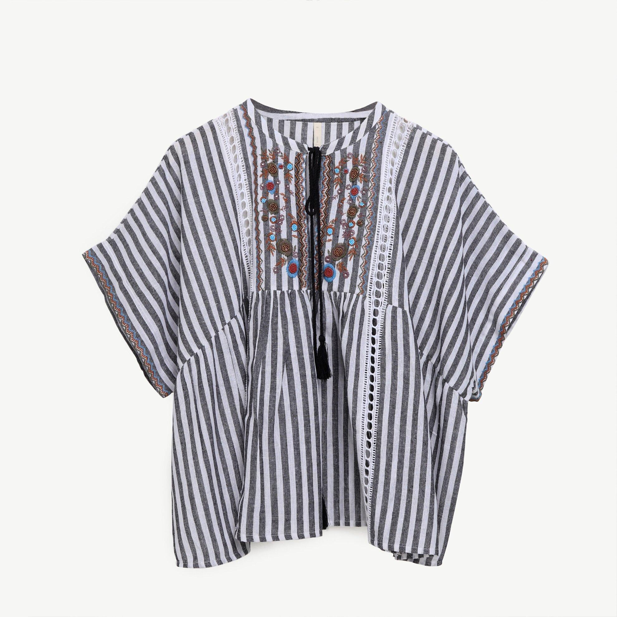Püskül Detaylı Bluz
