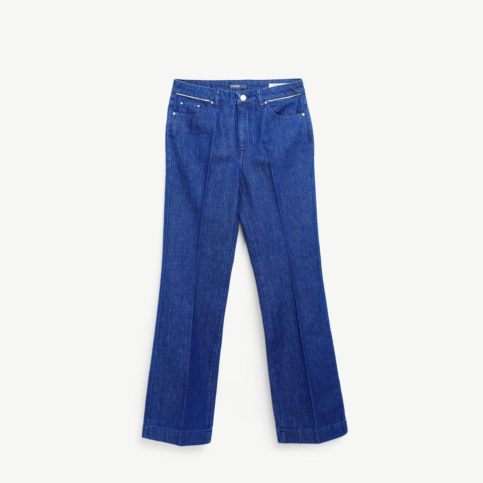 Geniş Paça Denim Pantolon
