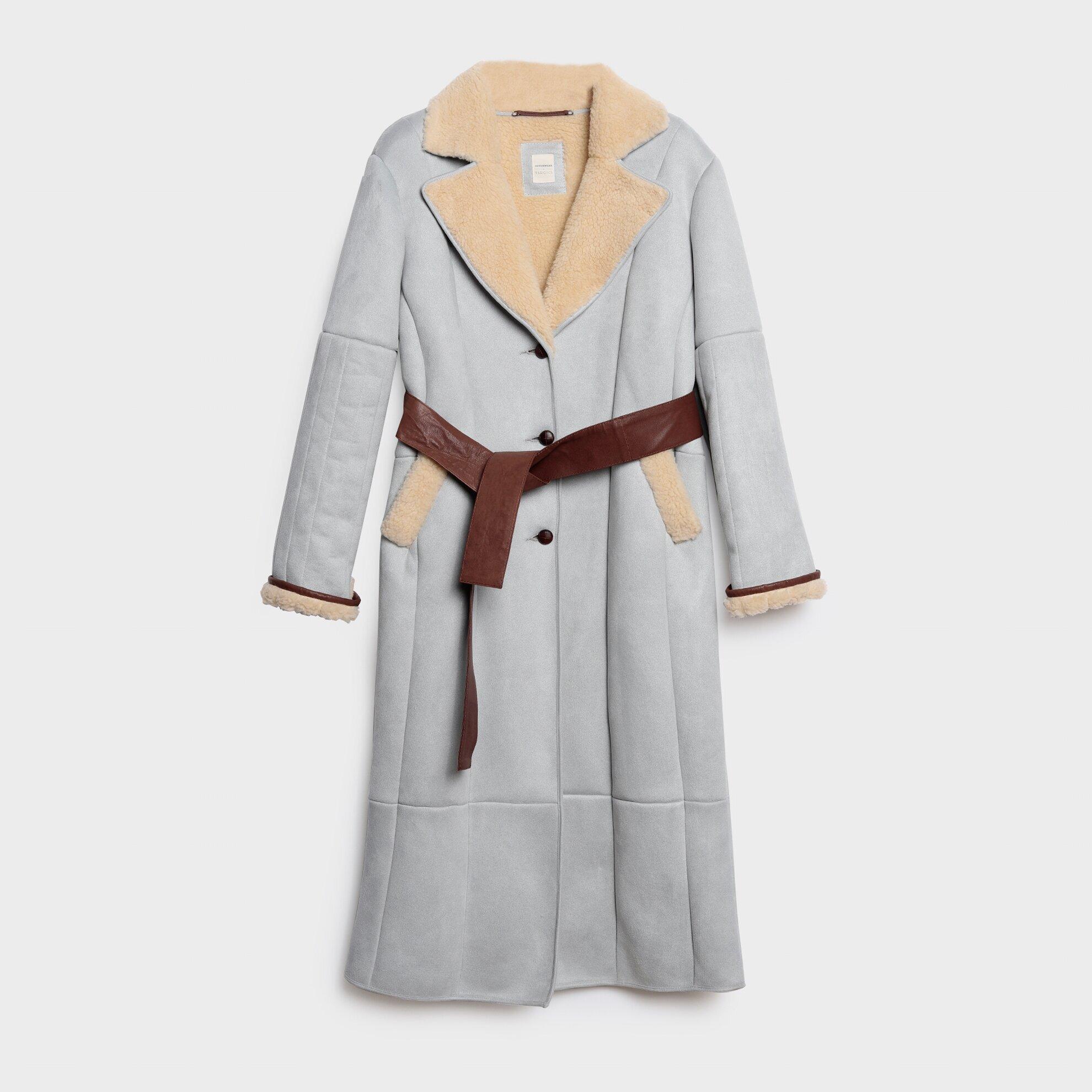 Dikiş Detaylı Uzun Palto