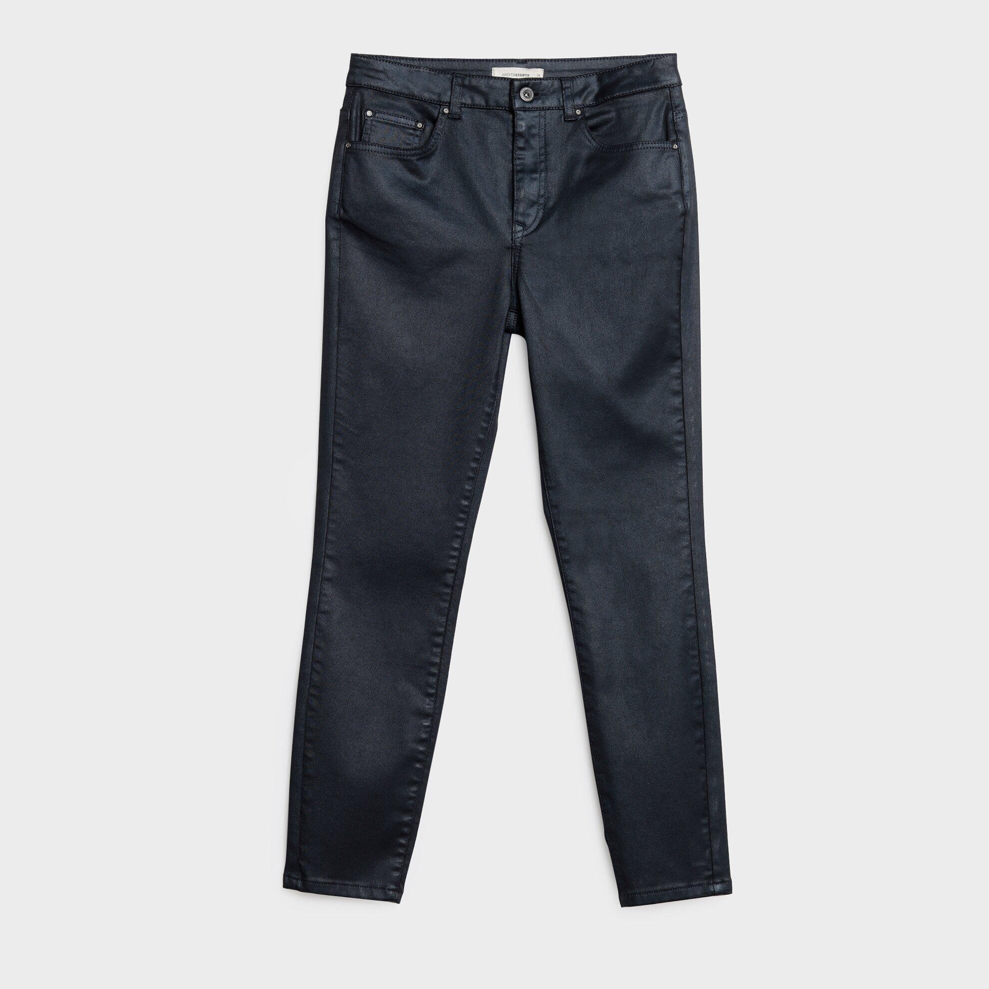 Kaplama Detaylı Beş Cep Pantolon