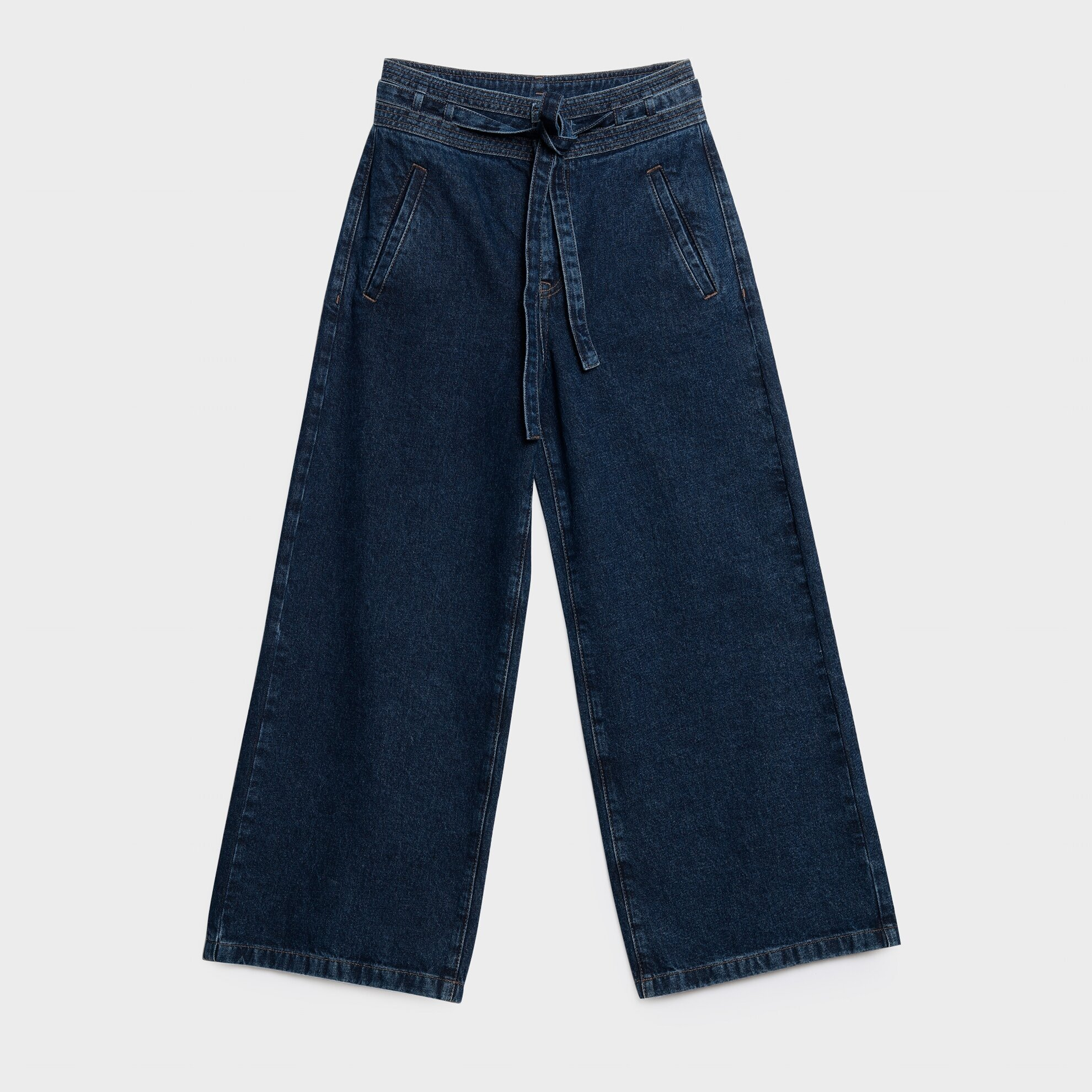 Kemer Detaylı Denim Pantolon