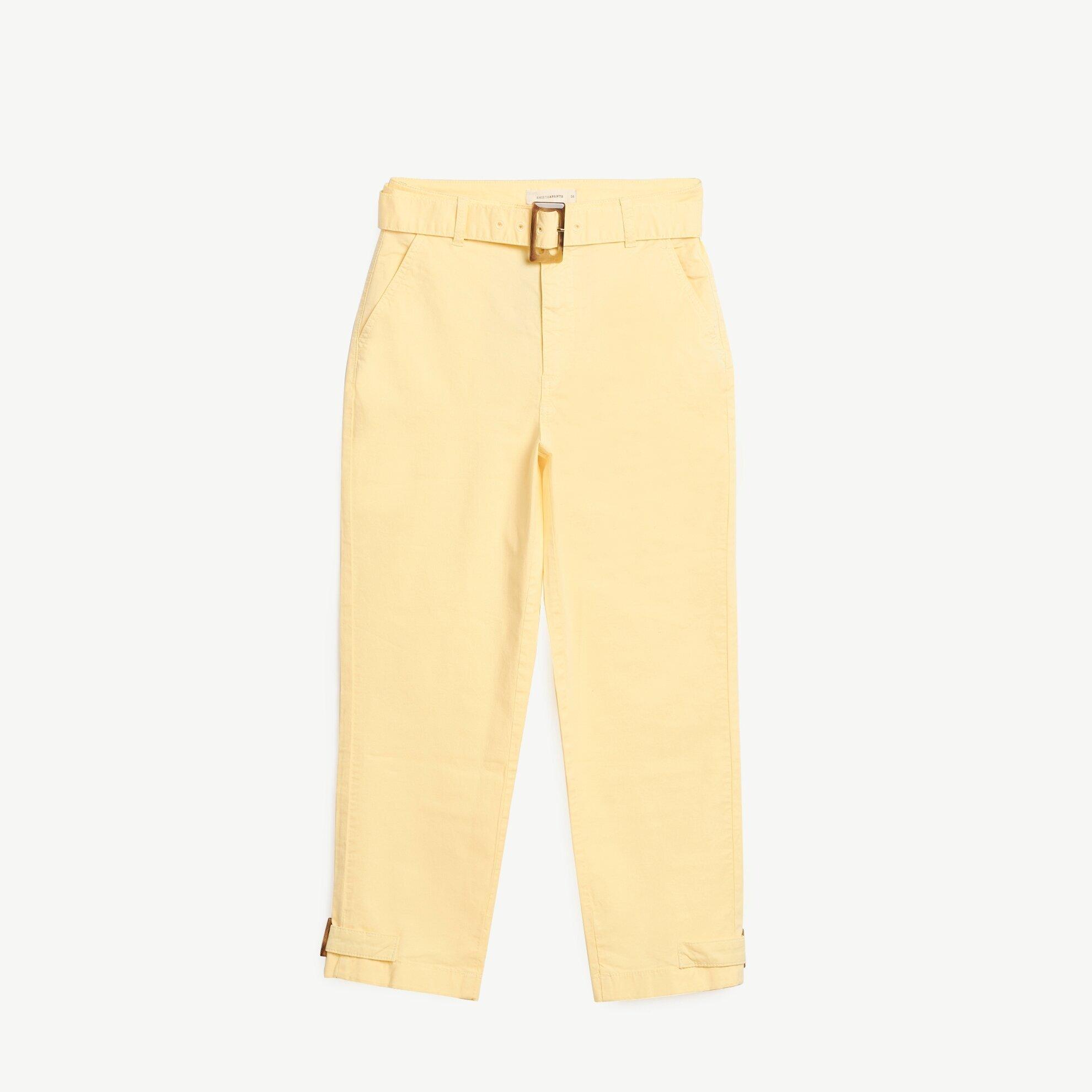 Paça Detaylı Kemerli Pantolon