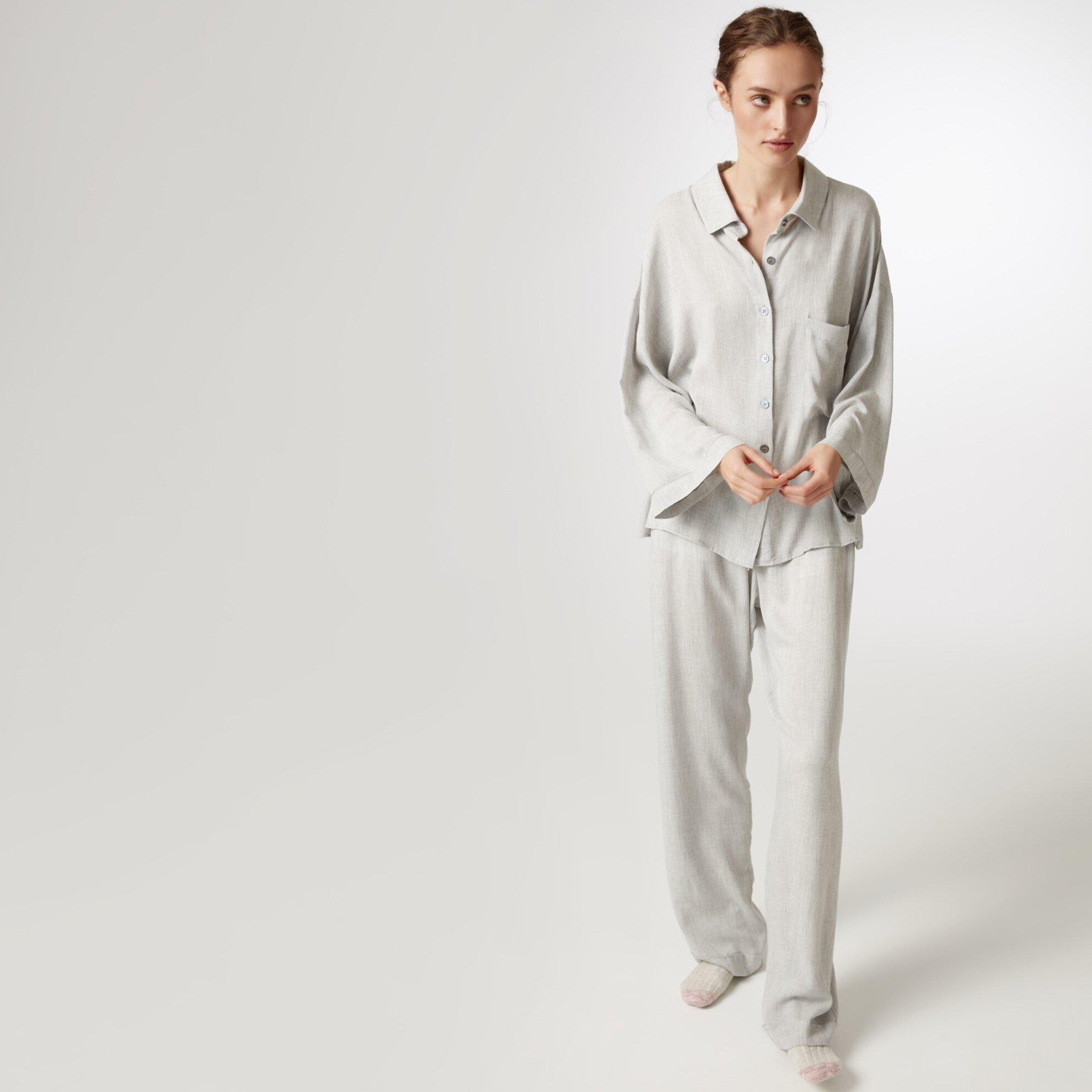 Grogren Detaylı Pijama Altı