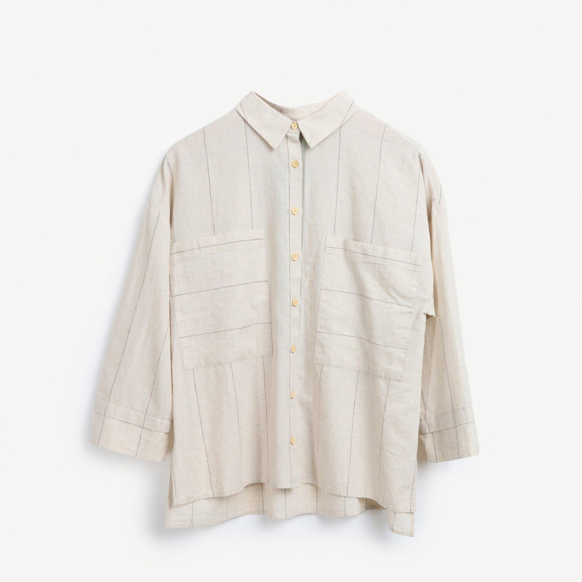 Cep Detaylı Rahat Kalıp Gömlek