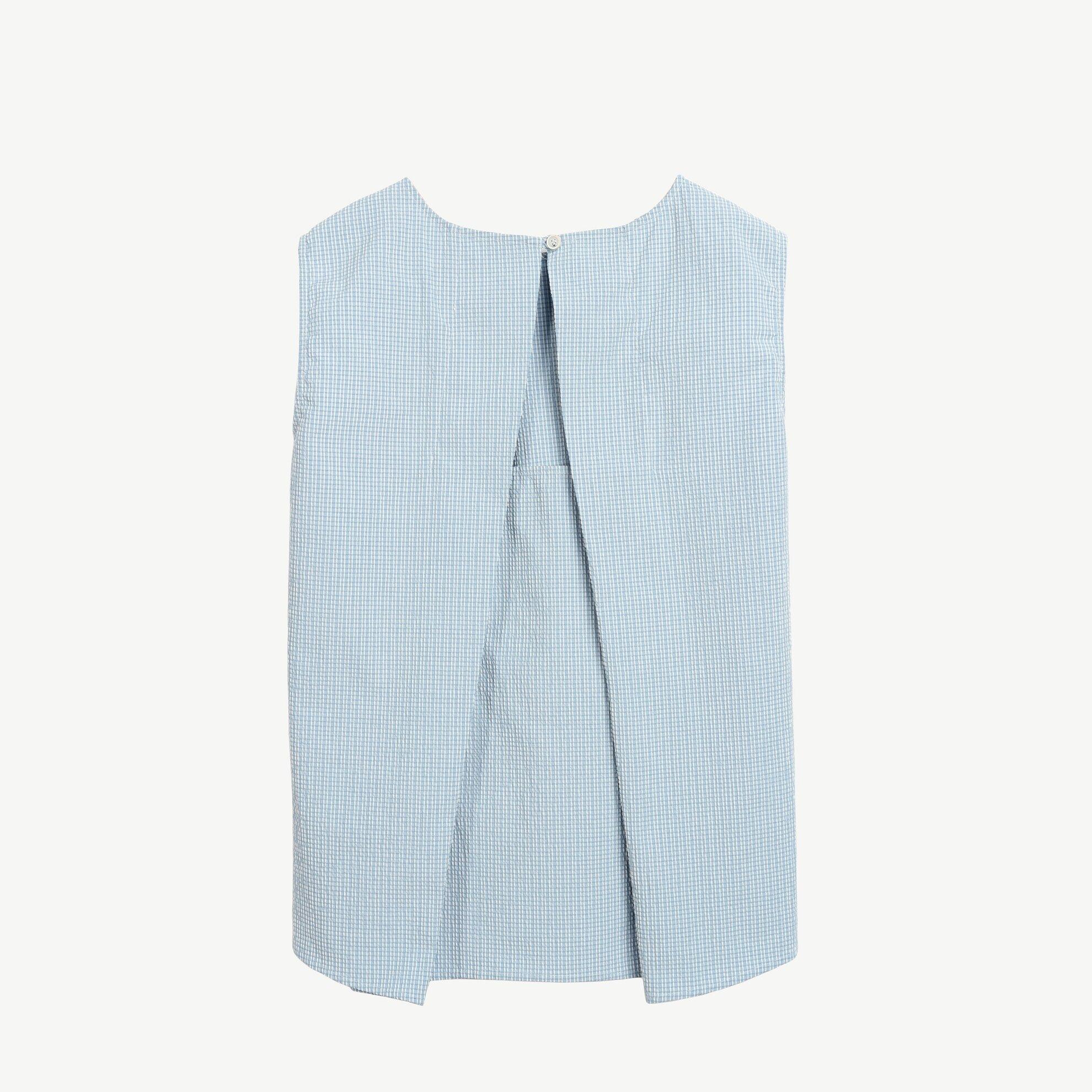 Cep Detaylı Kolsuz Bluz