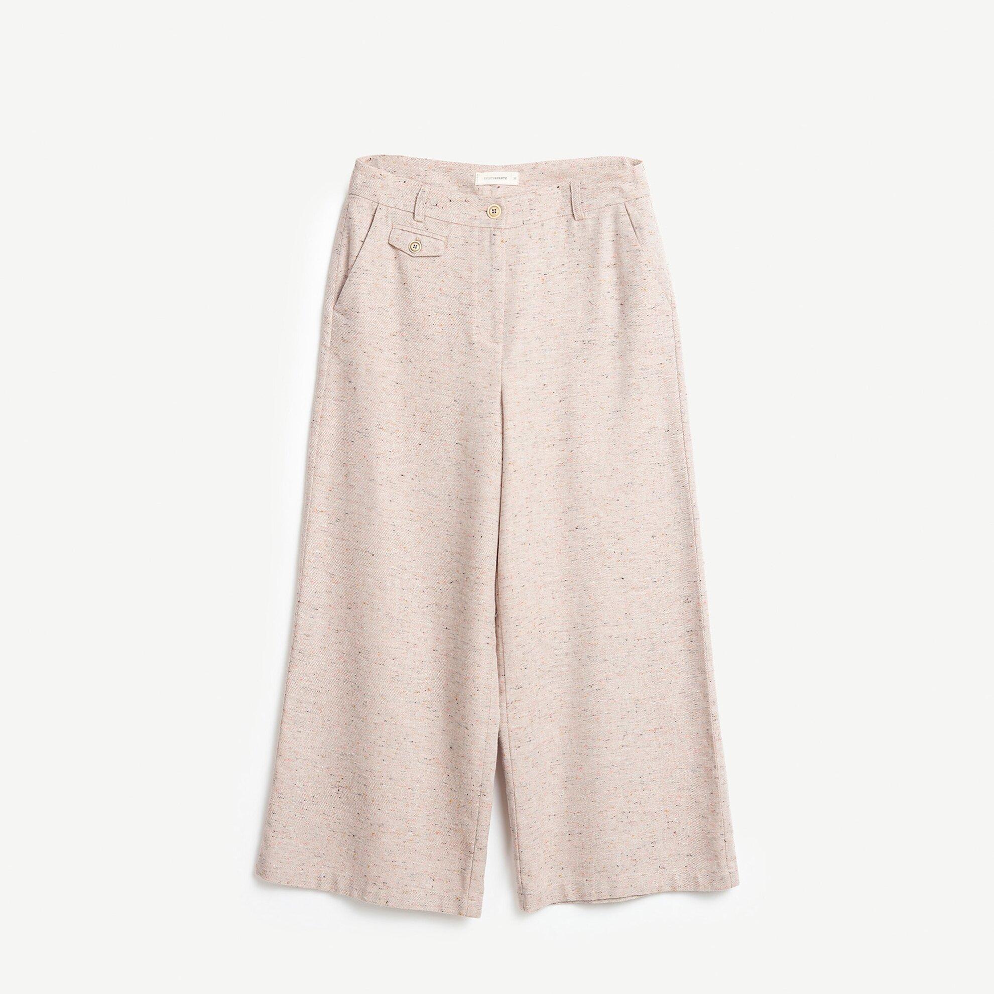 Cropped Geniş Paça Pantolon