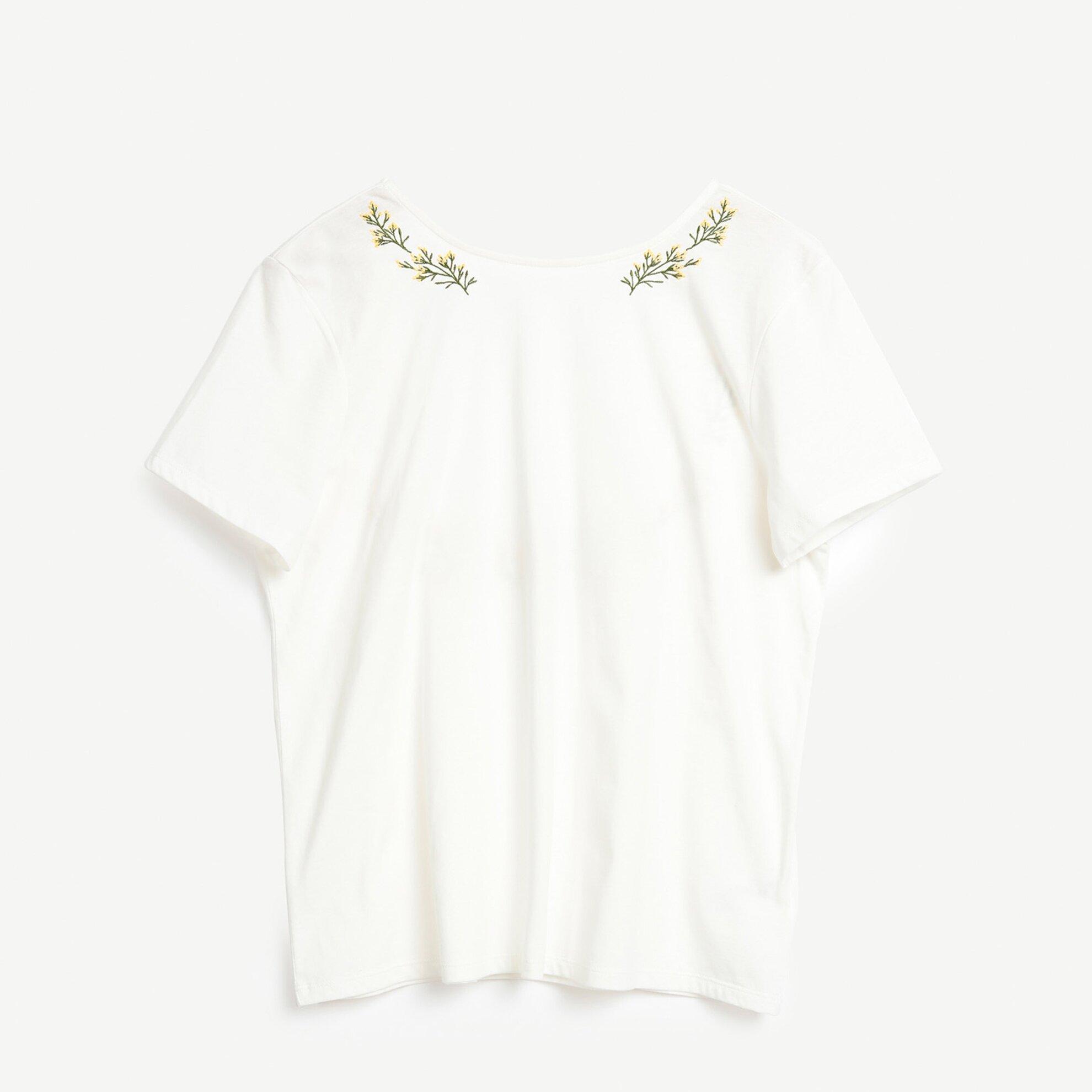 Nakış Detaylı Kısa Kollu T-Shirt