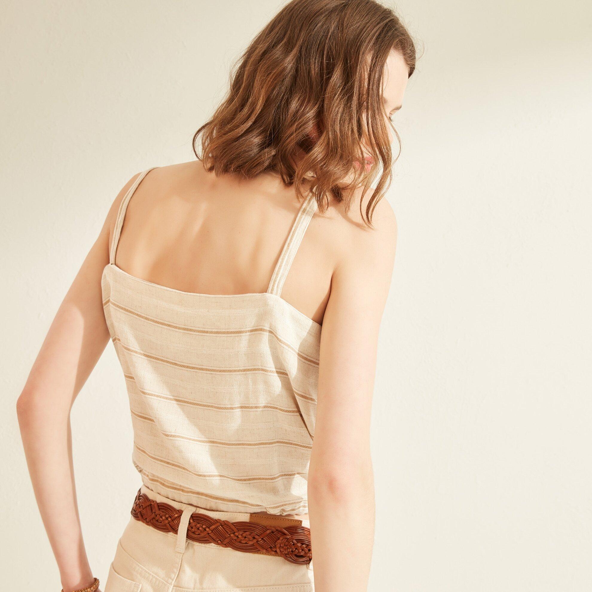 Cep Detaylı Askılı Bluz