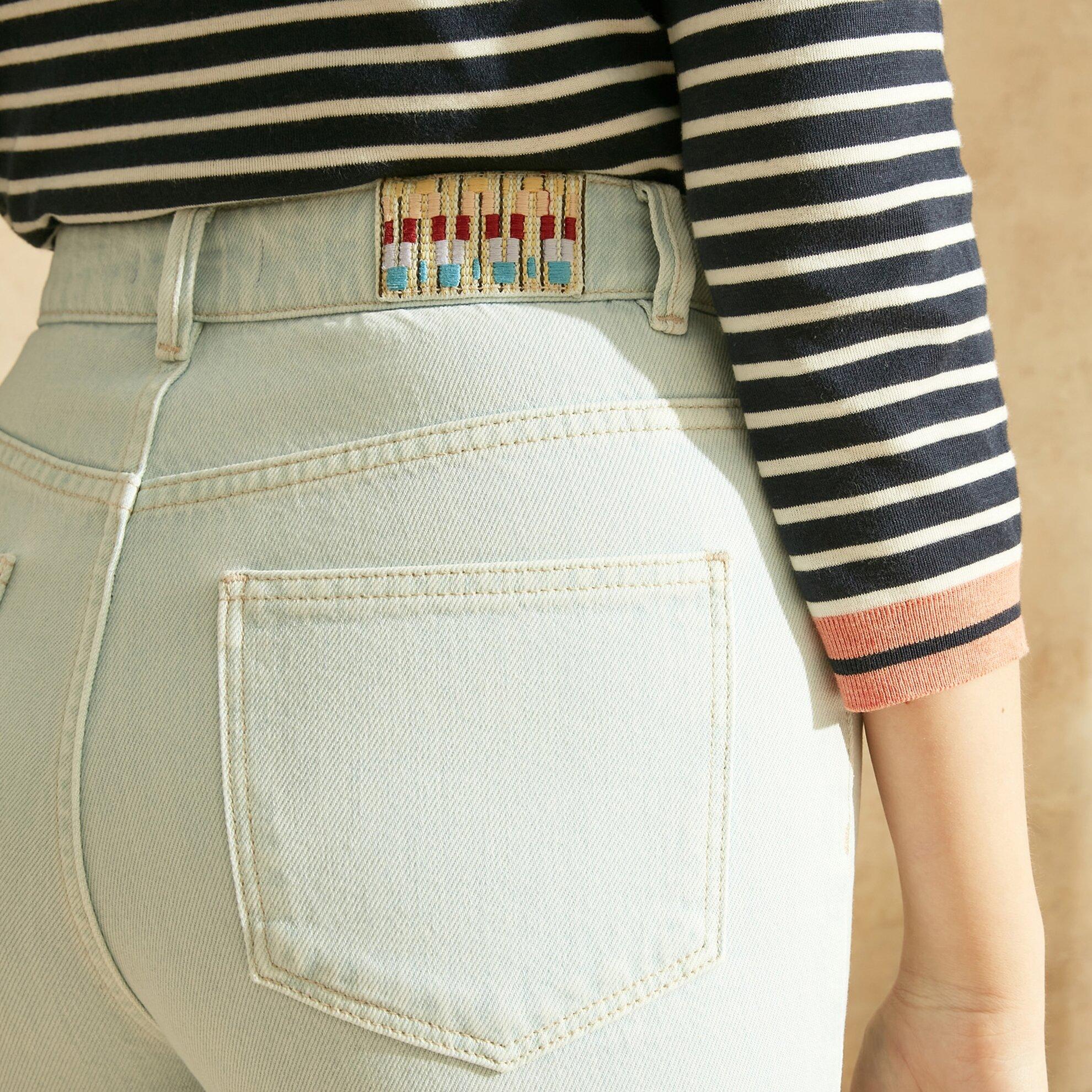 Straight Mom Fit Denim Pantolon