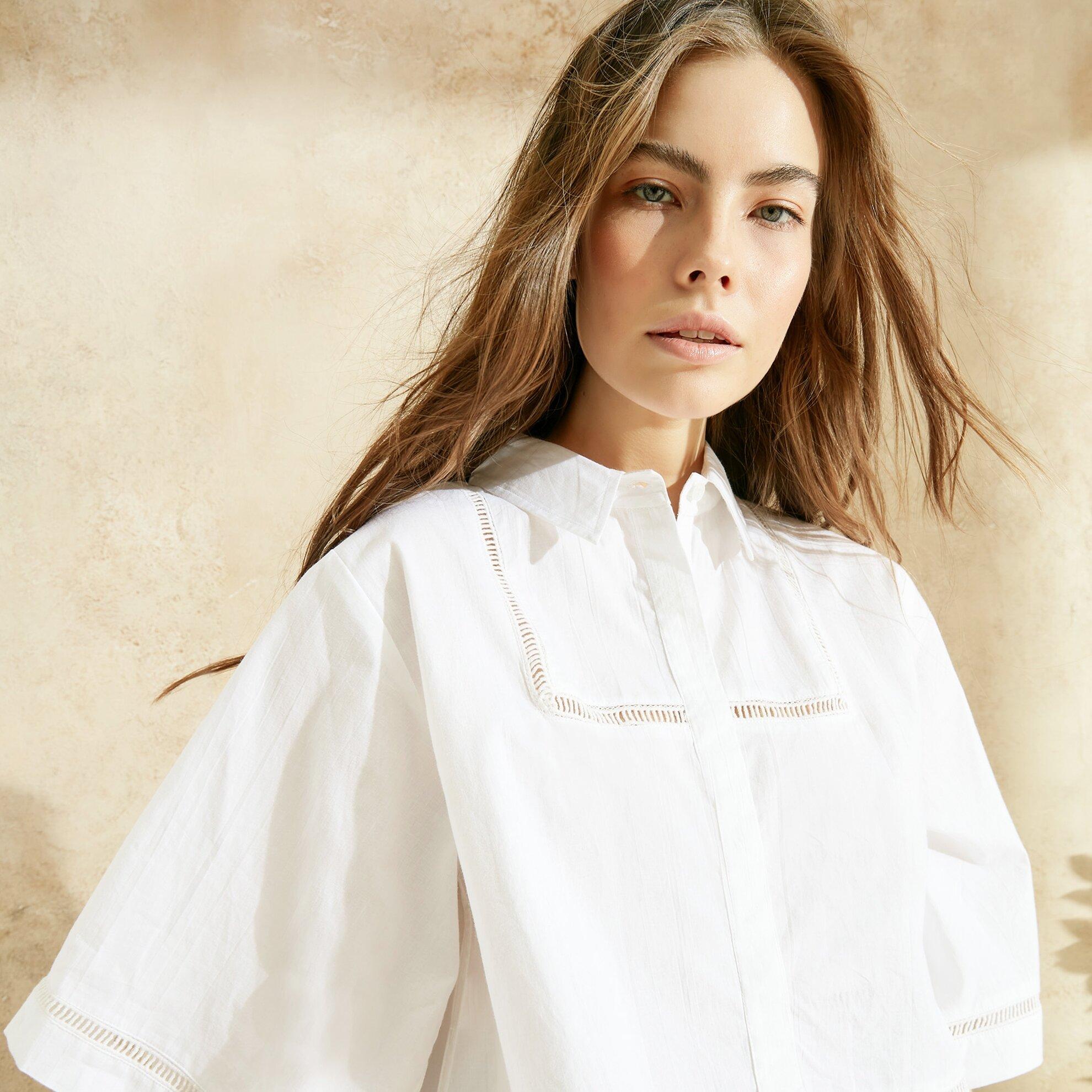 Biye Detaylı Rahat Kalıp Gömlek