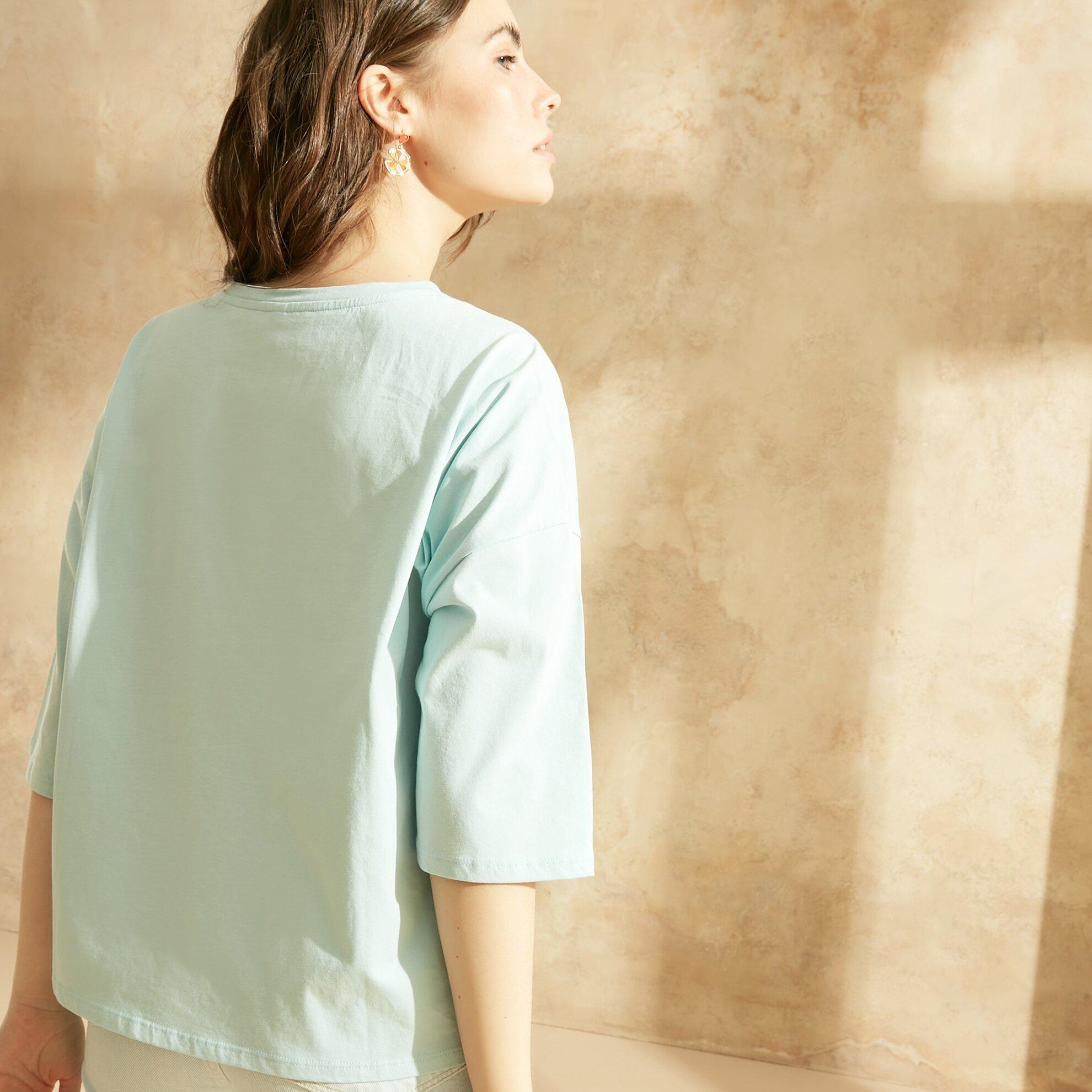 3/4 Kollu T-Shirt