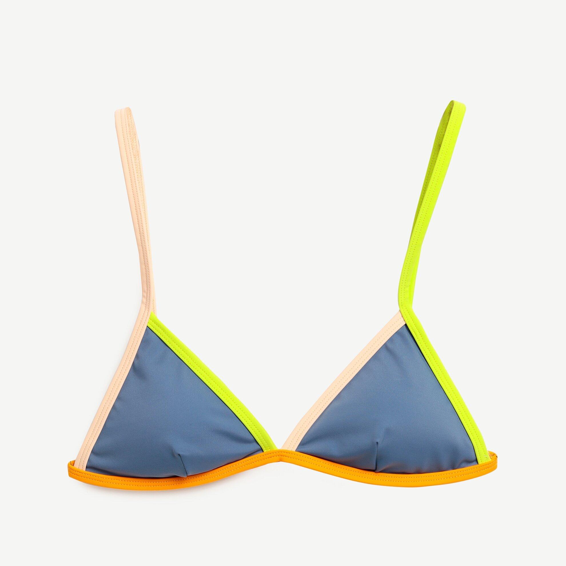Renkli Şeritli Bikini Üst