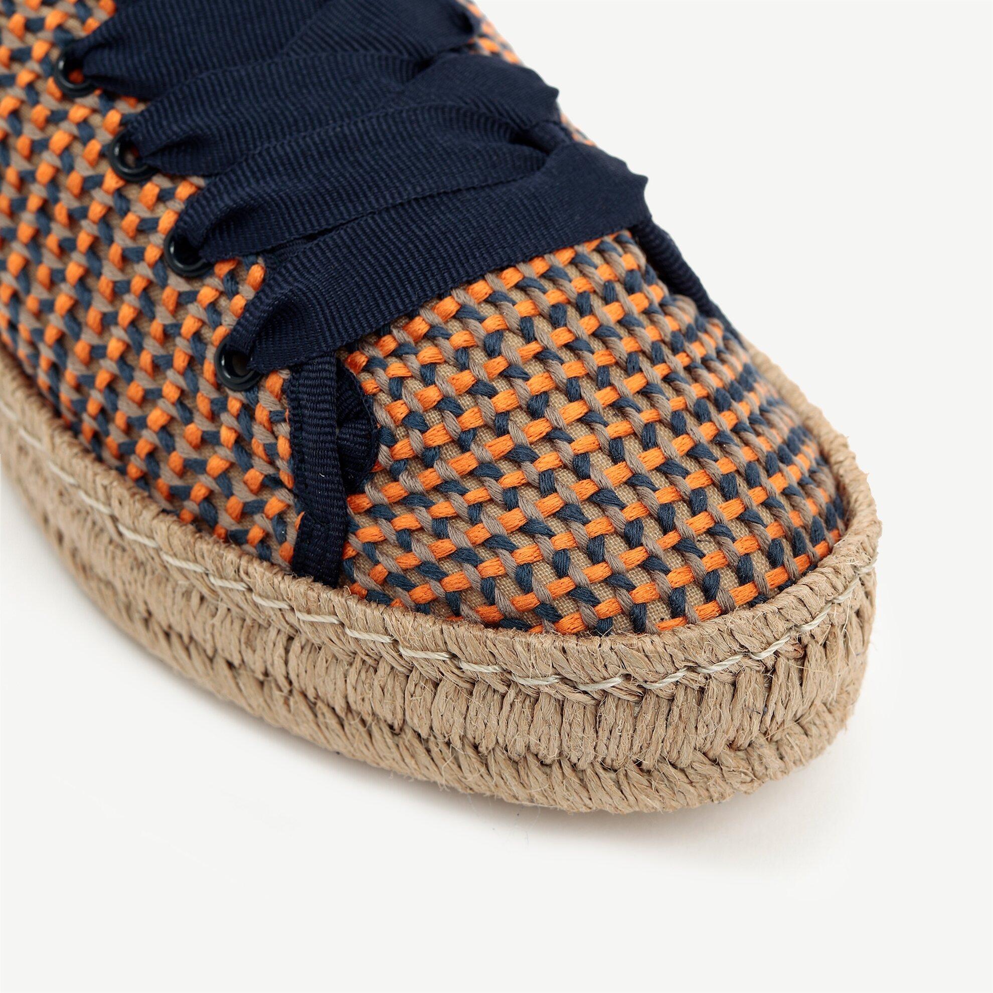 Hasır Taban Detaylı Ayakkabı