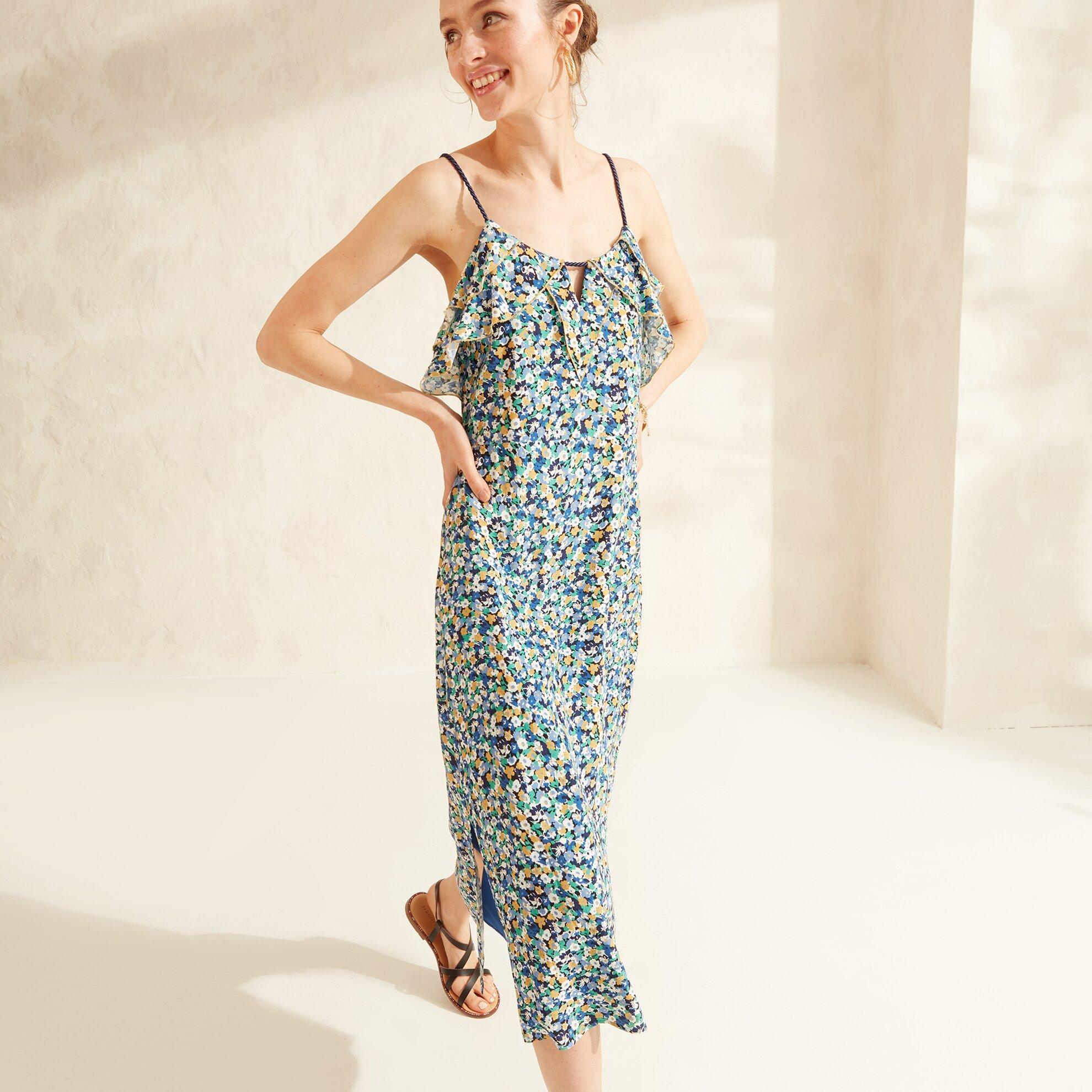 Kırma Detaylı Elbise