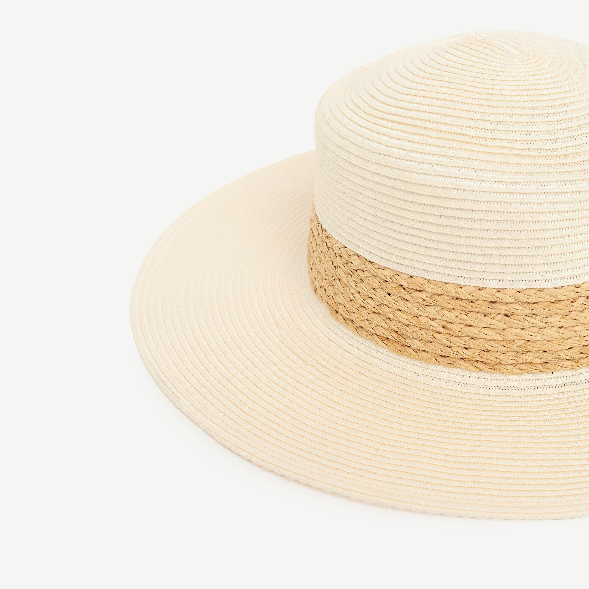 Rafya Detaylı Hasır Şapka