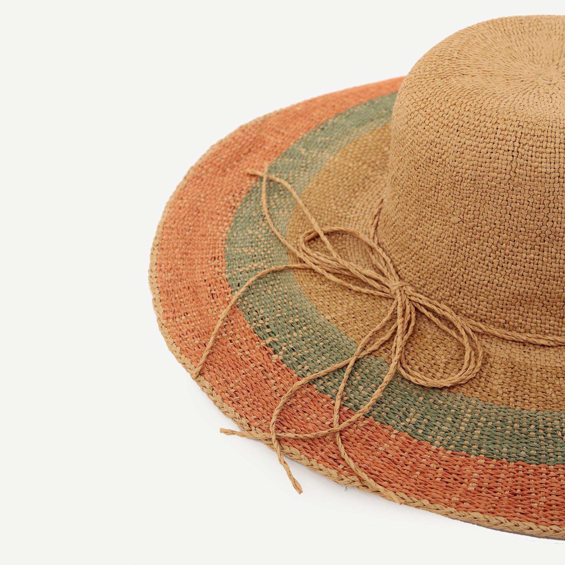 Renkli Hasır Şapka