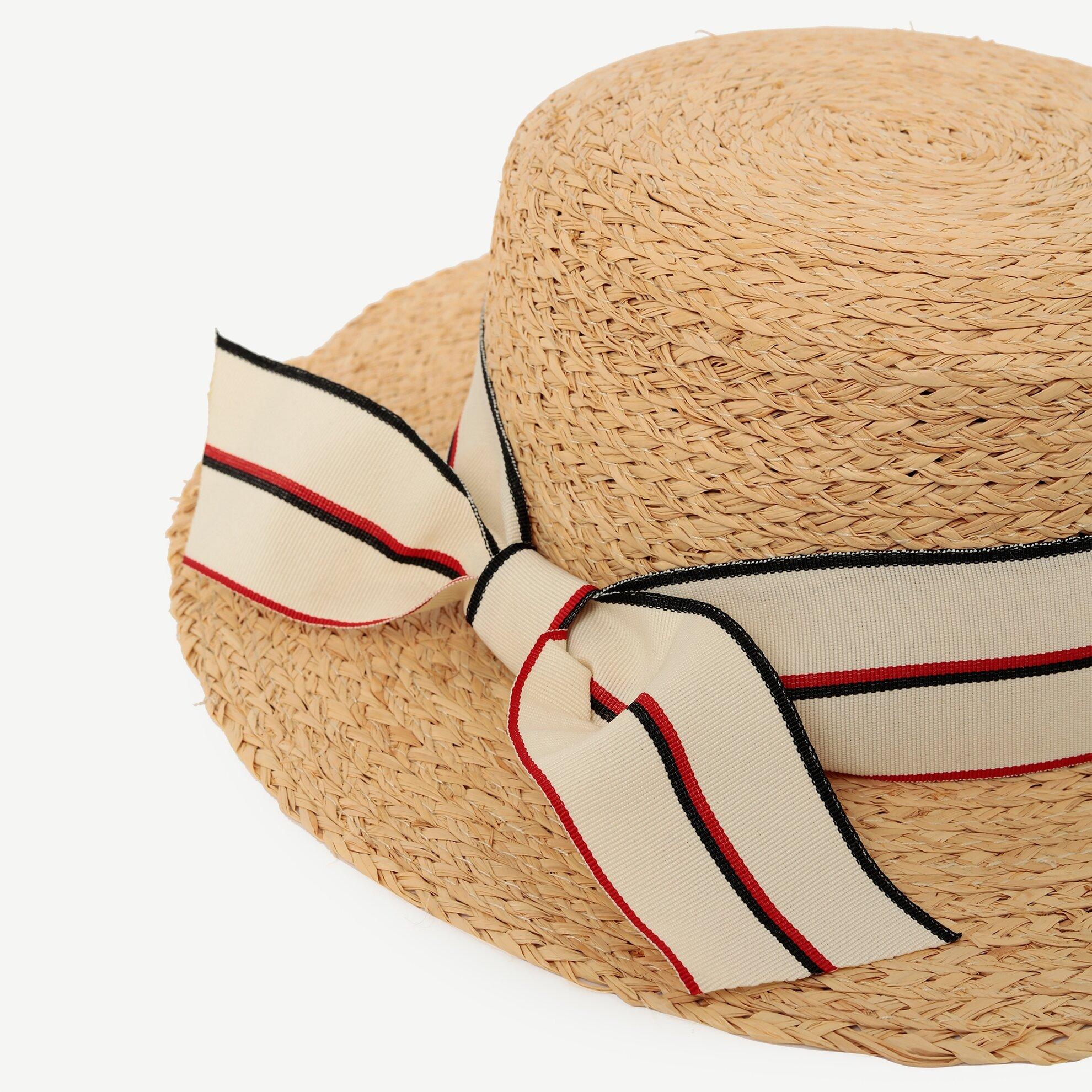 Kurdele Detaylı Rafya Şapka