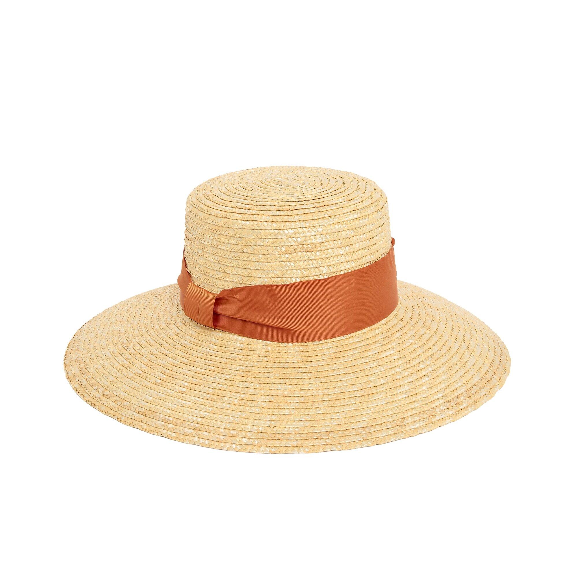 Kurdele Detaylı Hasır Şapka