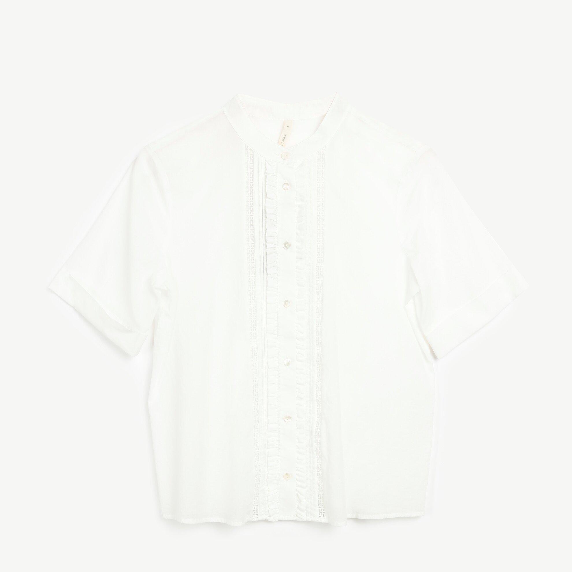 Yakasız Kısa Kol Gömlek