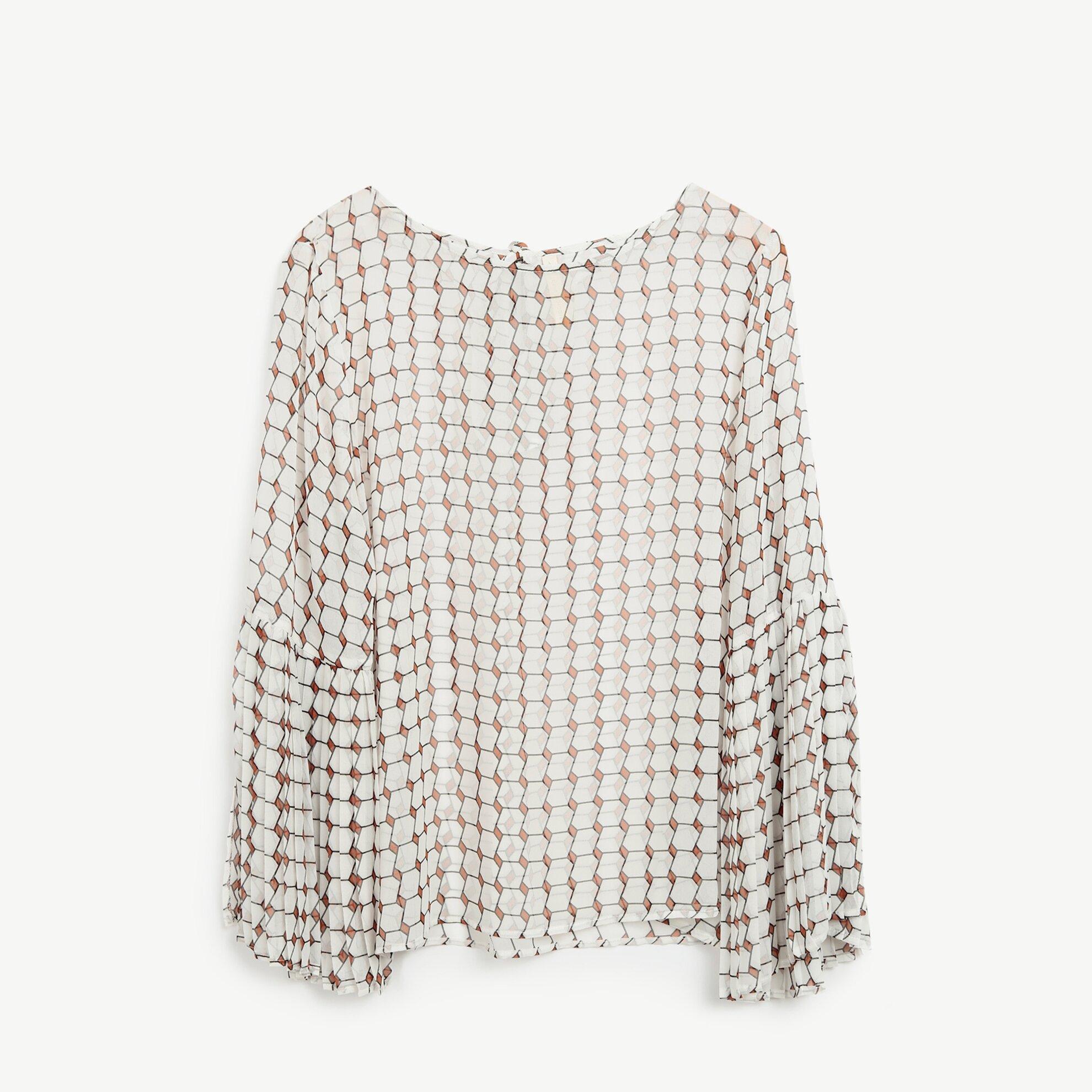 Plise Kol Detaylı Bluz