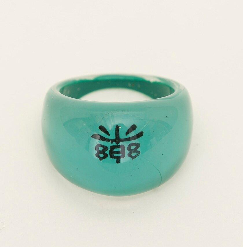 Çin Harfli Yeşil Yüzük
