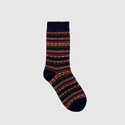 Desenli Kalın Çorap